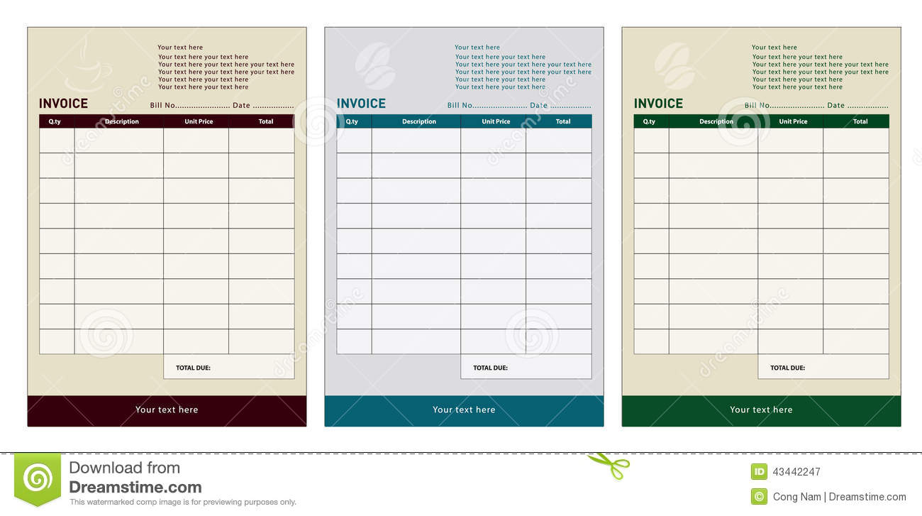 Invoice Template  Bill Book Template