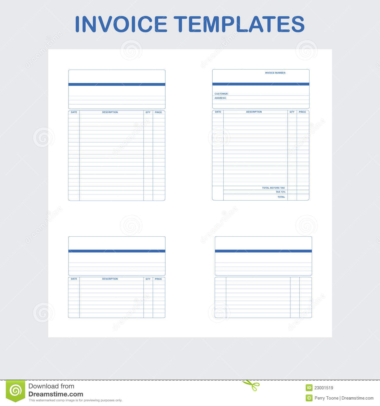 invoice templates stock vector  illustration of invoice