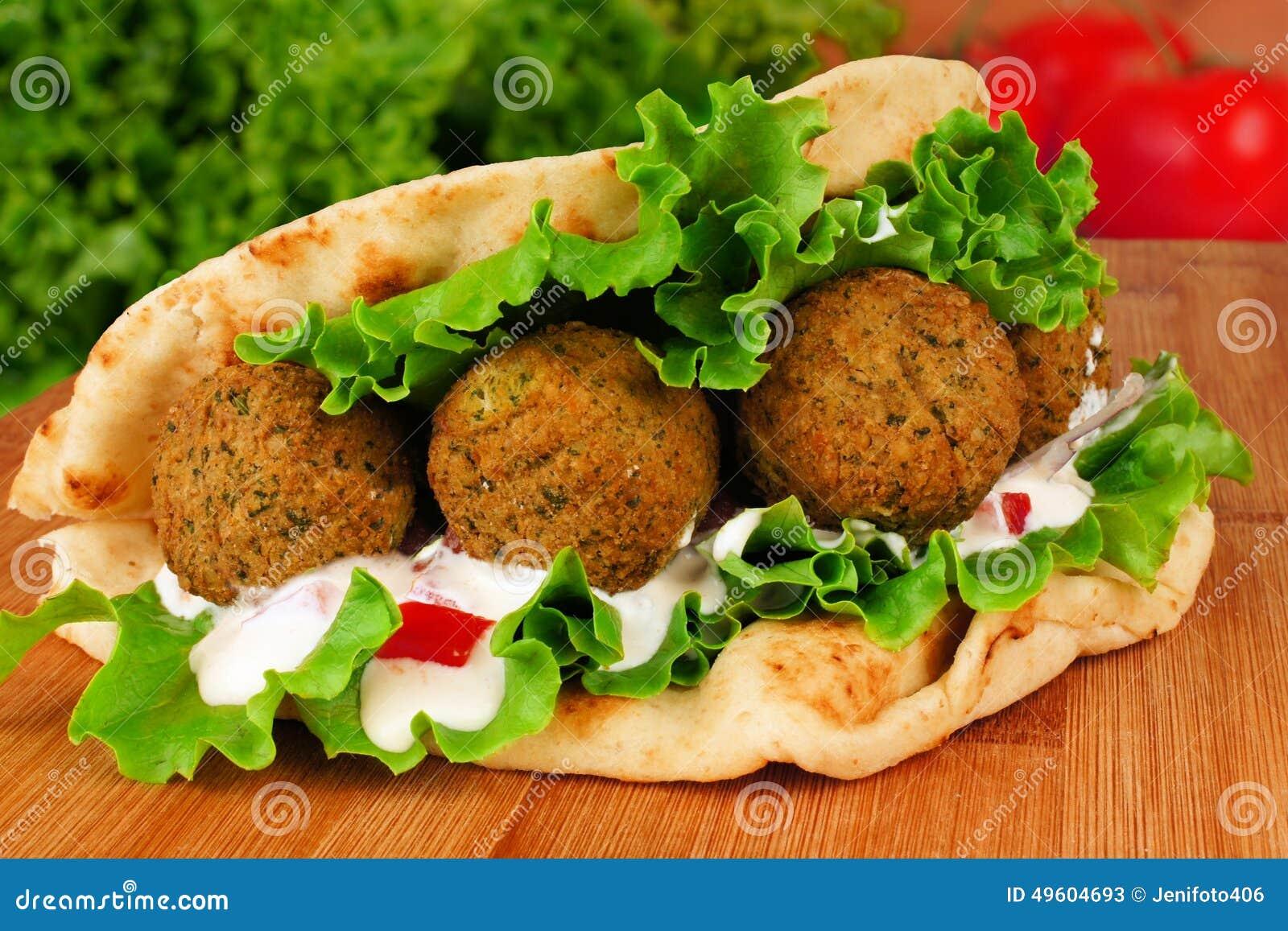 Involucro Della Pita Del Falafel Fotografia Stock ... Falafel Clipart