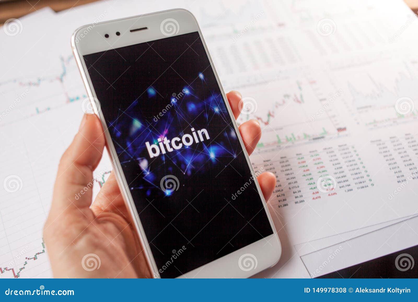 Inwestycja w Bitcoin, pojęcie Statystyki i raporty, analiza cryptocurrency rynek