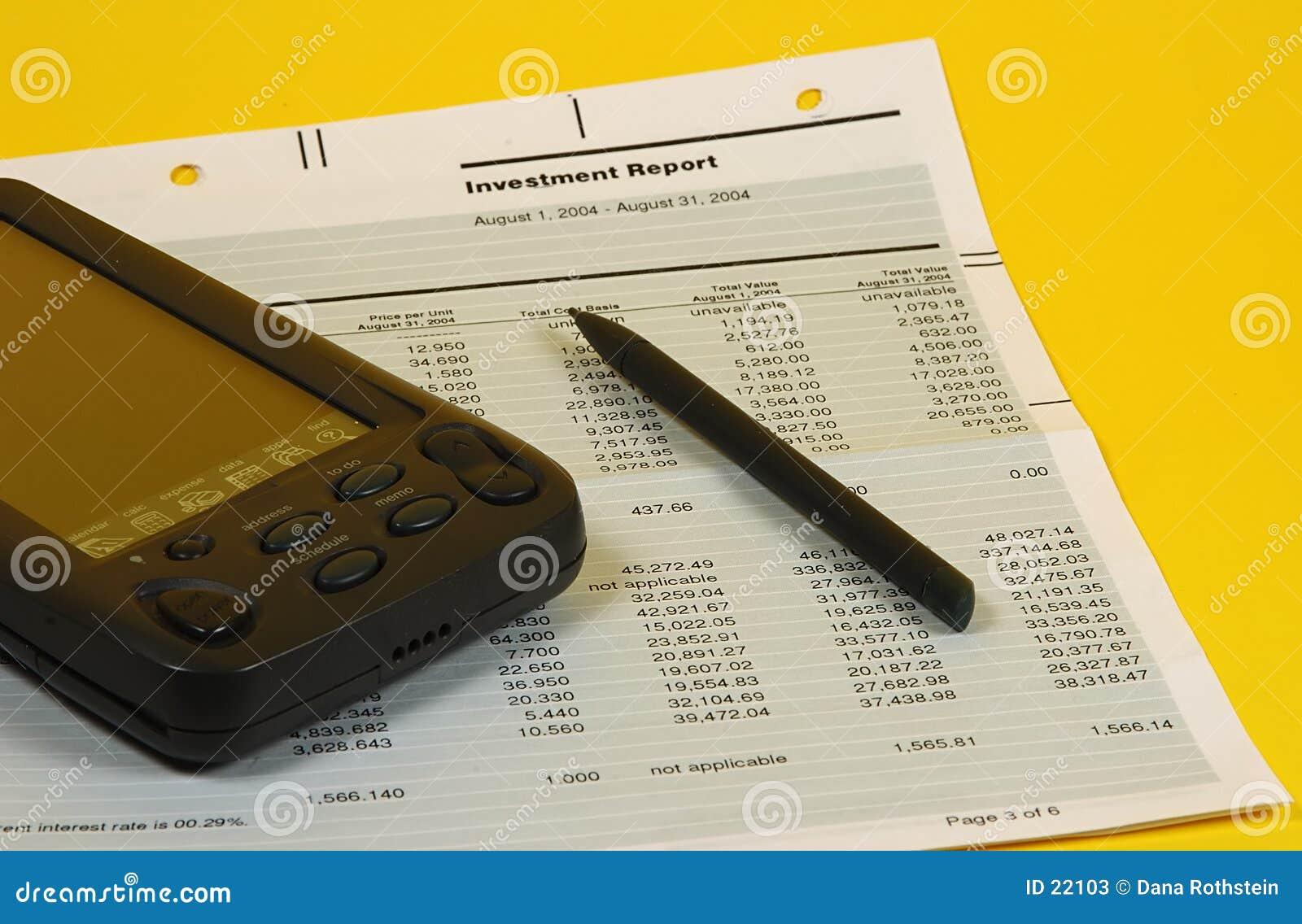 Inwestycje w sprawozdaniu