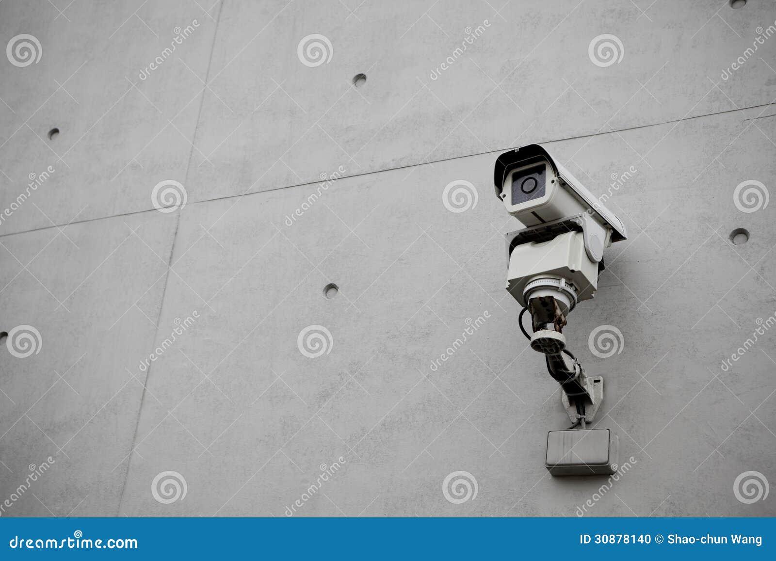 Inwigilaci kamera bezpieczeństwa z betonową ścianą