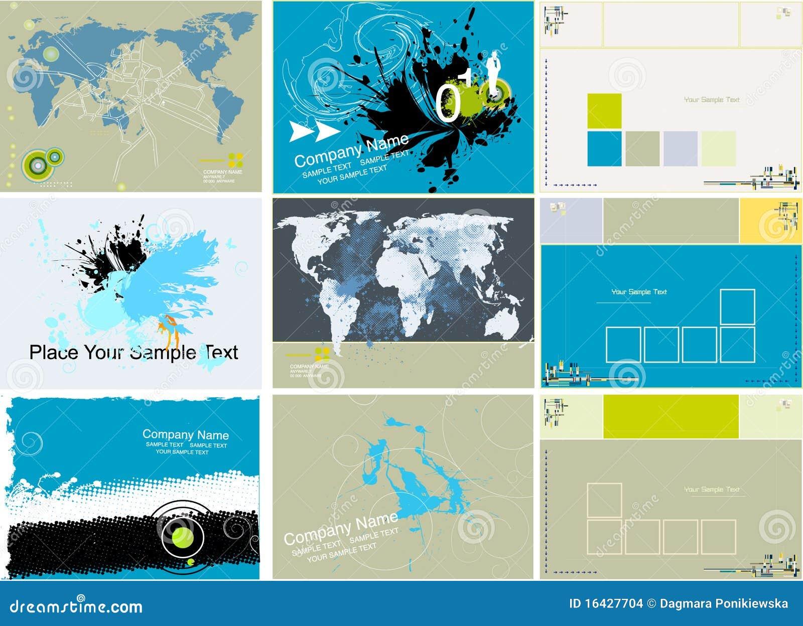 Inzameling van abstracte grungeachtergrond