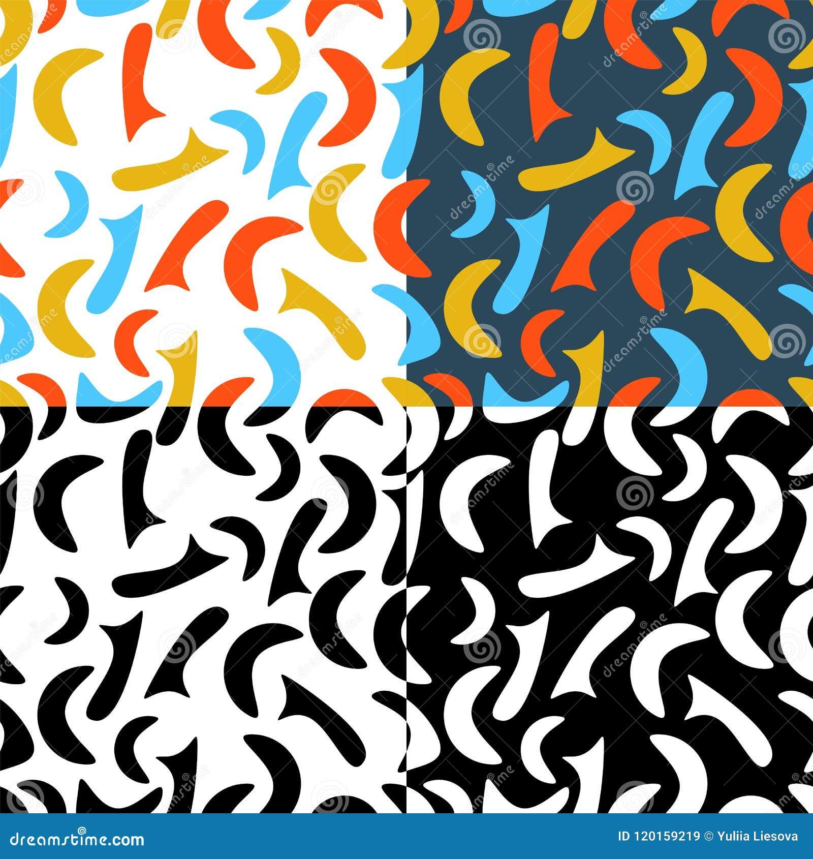Inzameling van abstracte kleurrijke naadloze patronen