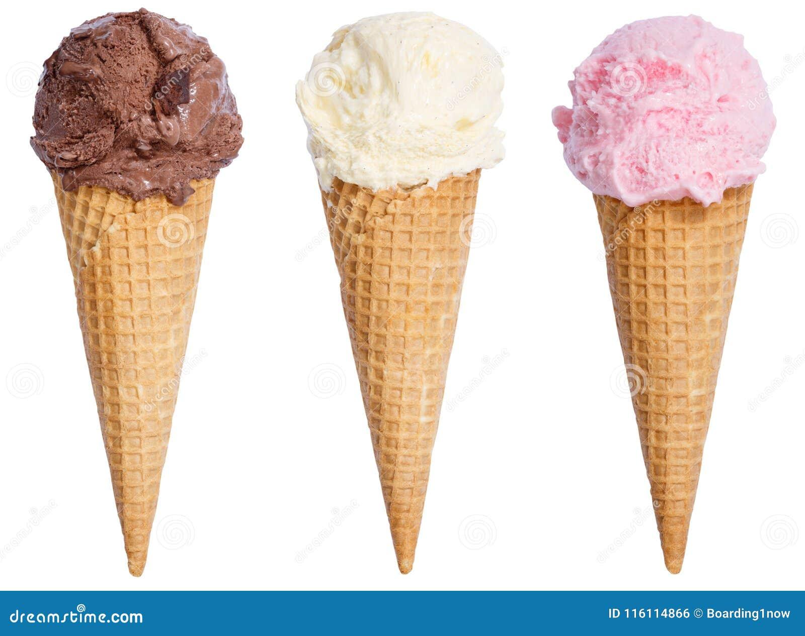 Inzameling van van de de ijscoupekegel van de roomijslepel de vanillechocolade icec