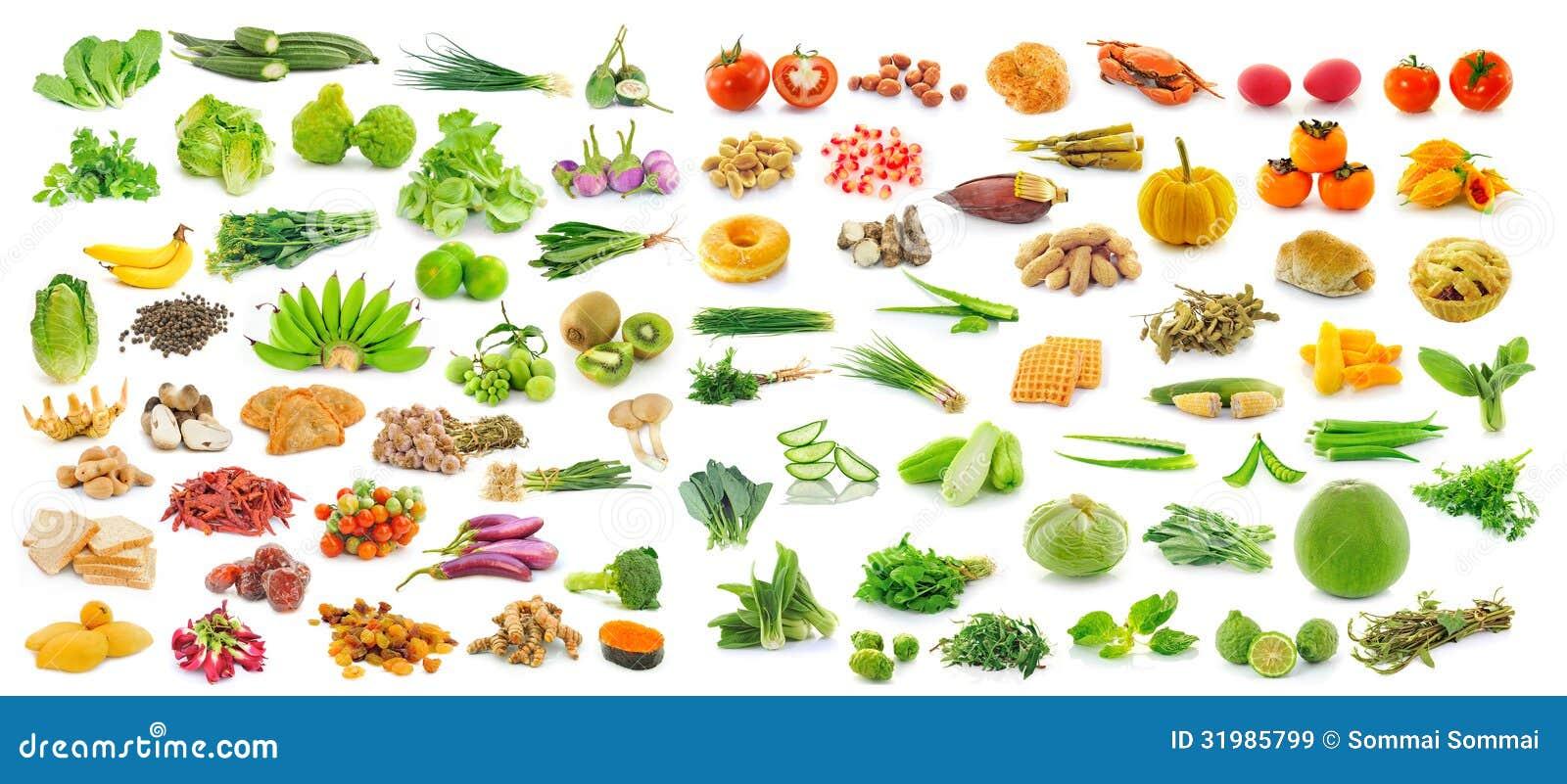 Achtergrond Witte Keuken : Inzameling Van Fruit En Groenten Op Witte ...