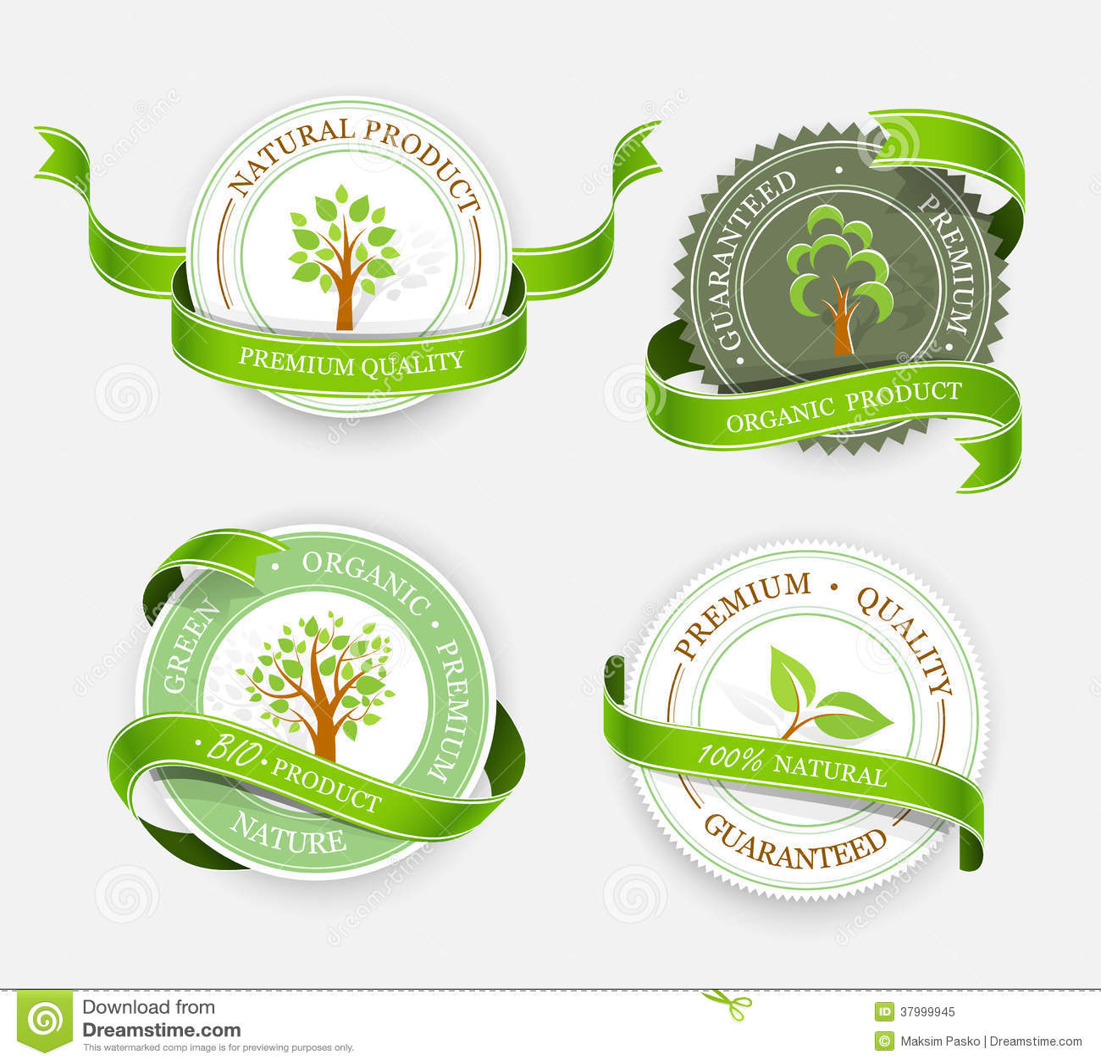 Inzameling van groene stickers