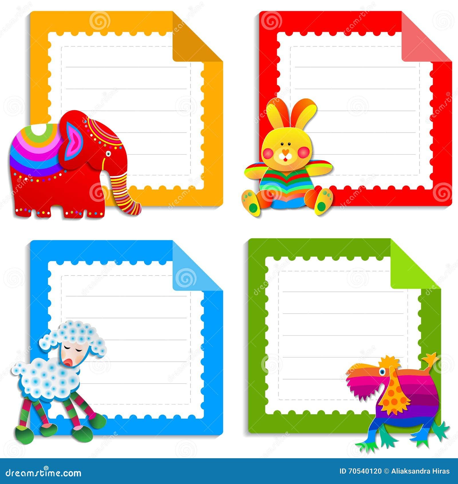 Inzameling van groetkaarten voor jonge geitjes vector illustratie afbeelding 70540120 - Bebe ontwerp ...