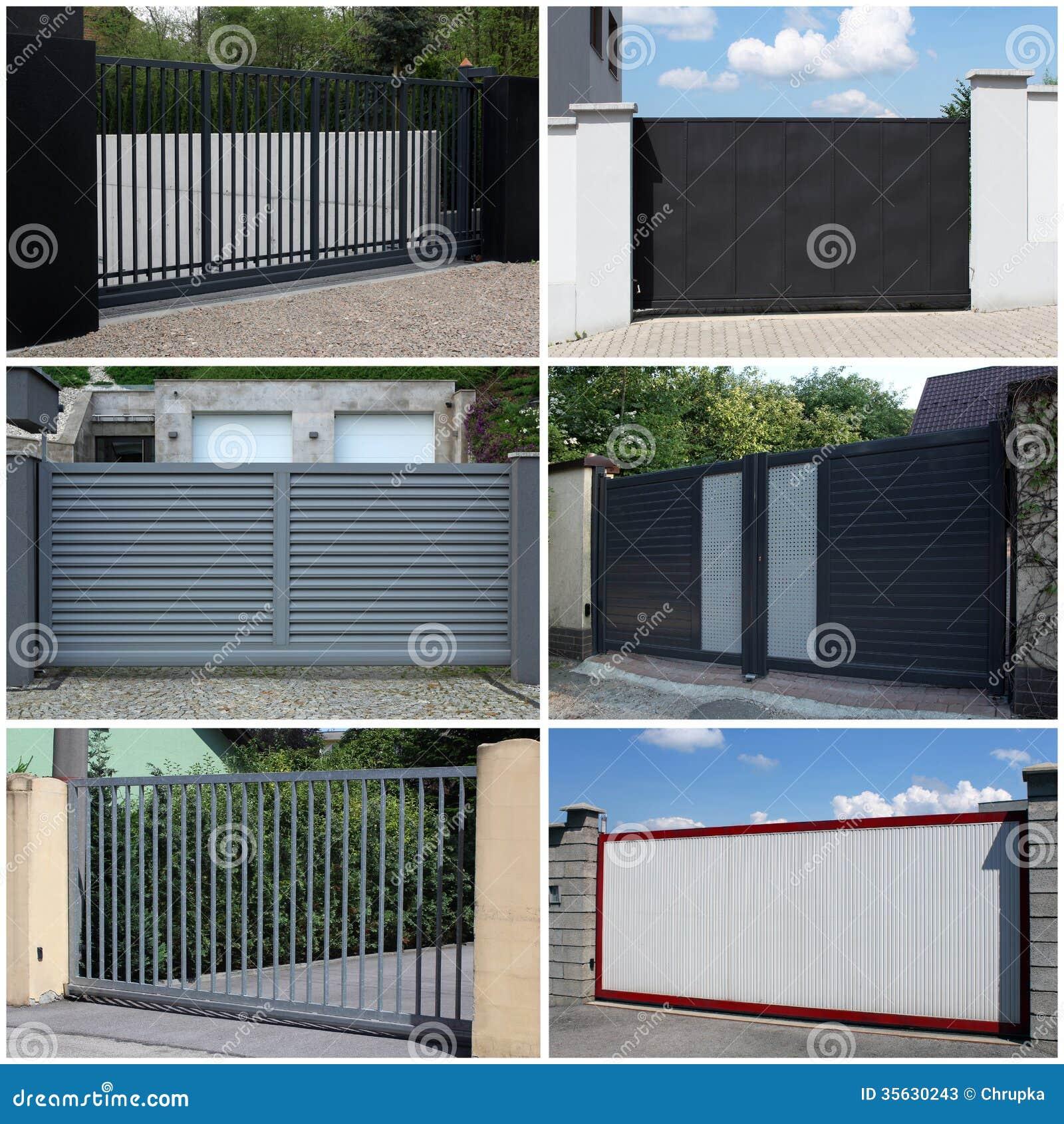 Inzameling van metaal moderne poort stock foto 39 s afbeelding 35630243 - Moderne tuin ingang ...