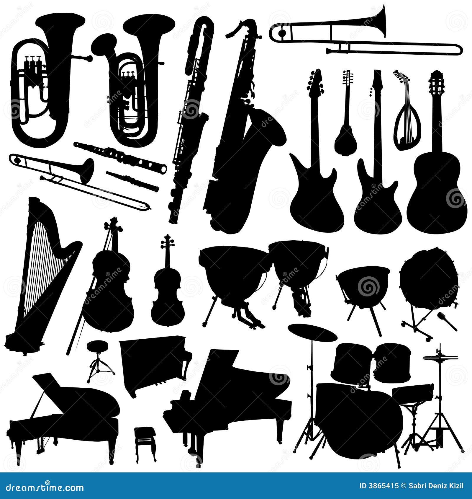 Inzameling van muziekvector 2