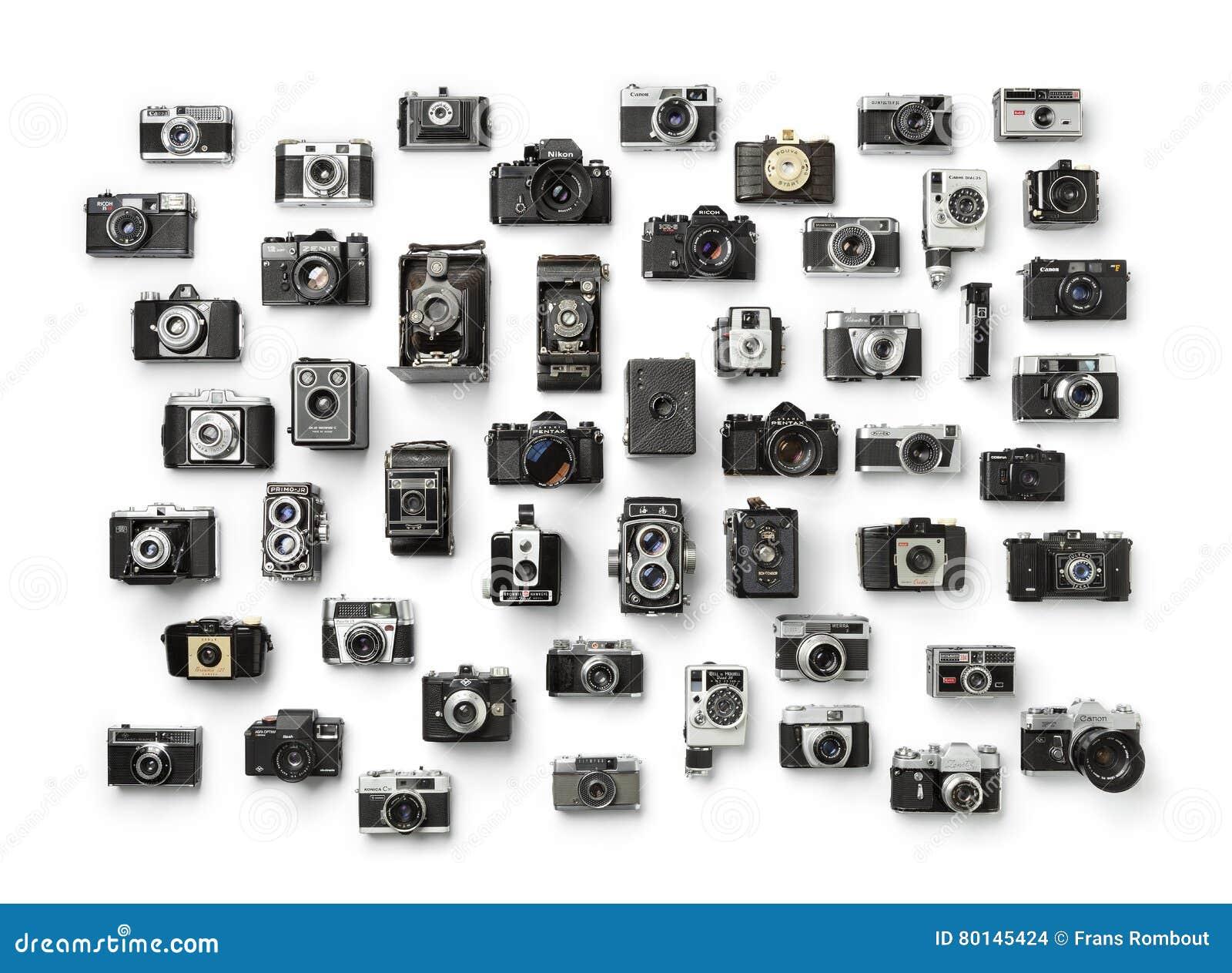 Inzameling van uitstekende analoge camera ` s