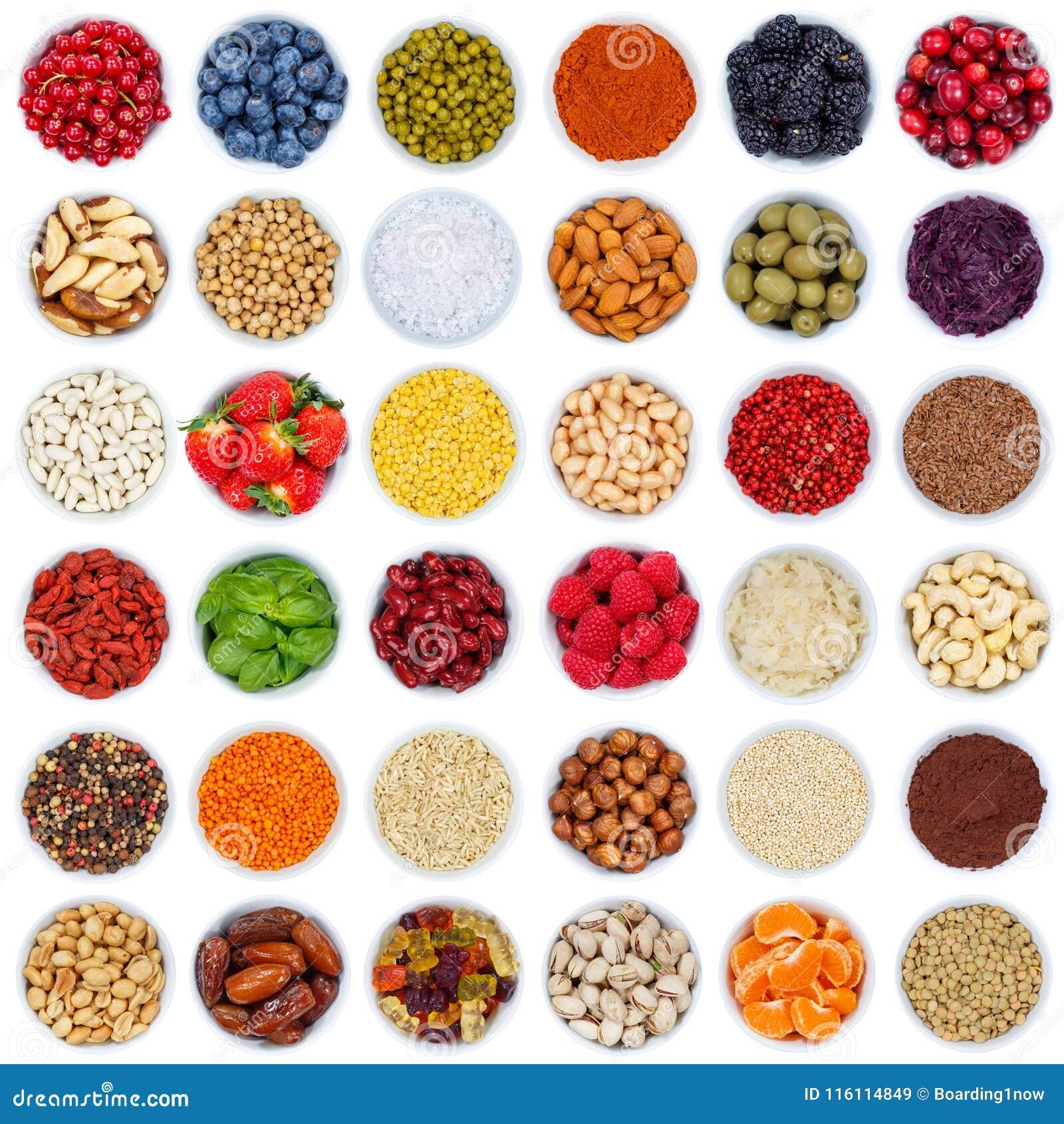Inzameling van vruchten en groentenbessen van boven vierkant BO