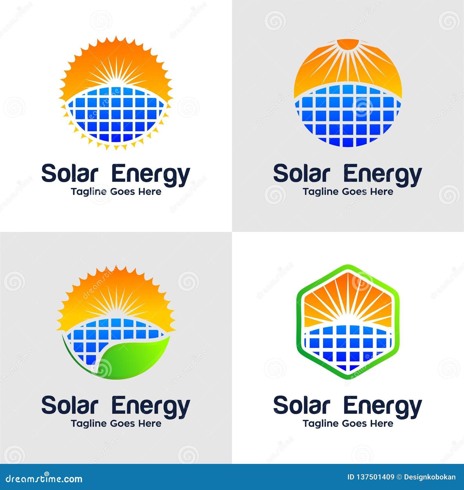Inzameling van Zonne-energieembleem