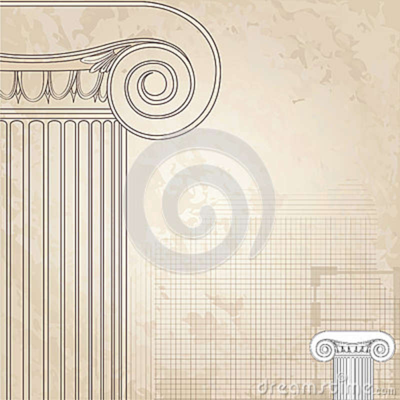 ionic classic columns background royalty free stock image