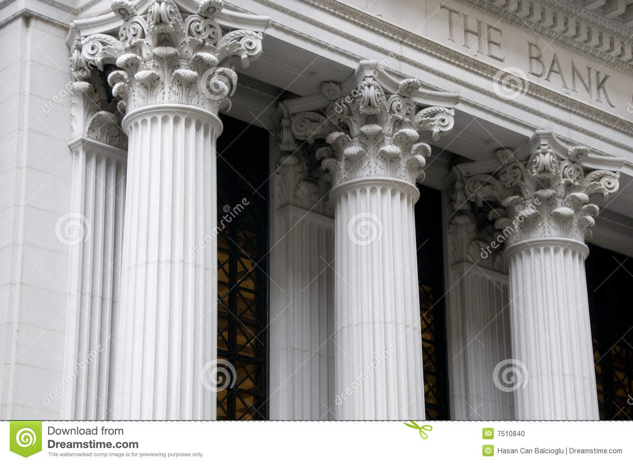 Ionic columns of a bank building stock photo image 7510840 for How to build a house on pillars