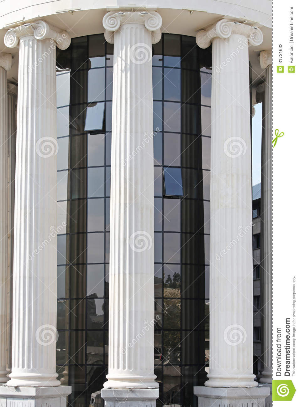 ionic columns stock photo image of stone columns