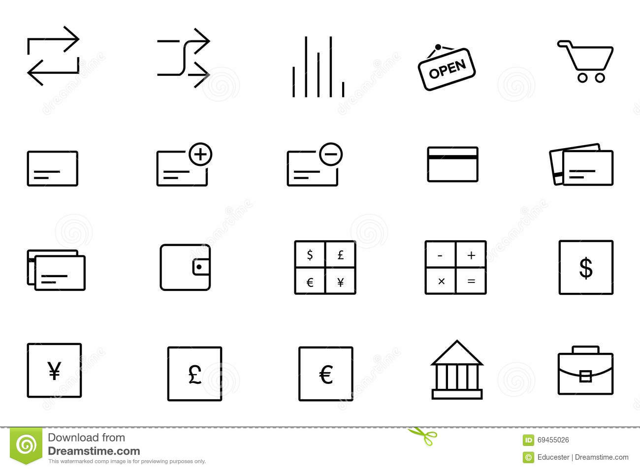 IOS And Android Vector Icons 11 Stock Illustration
