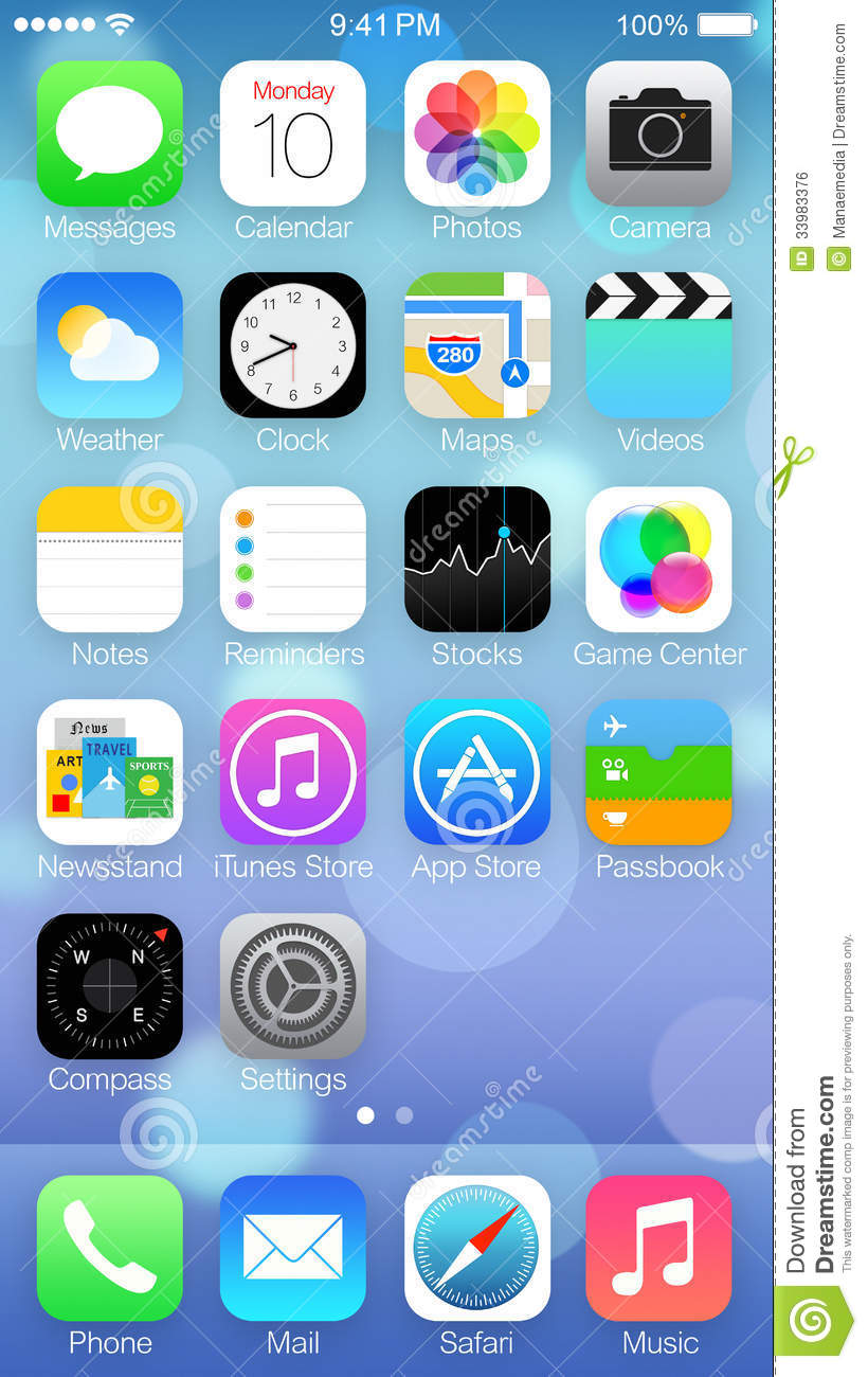 Ios 7 icons homescreen editorial photo illustration of ios 7 icons homescreen altavistaventures Choice Image