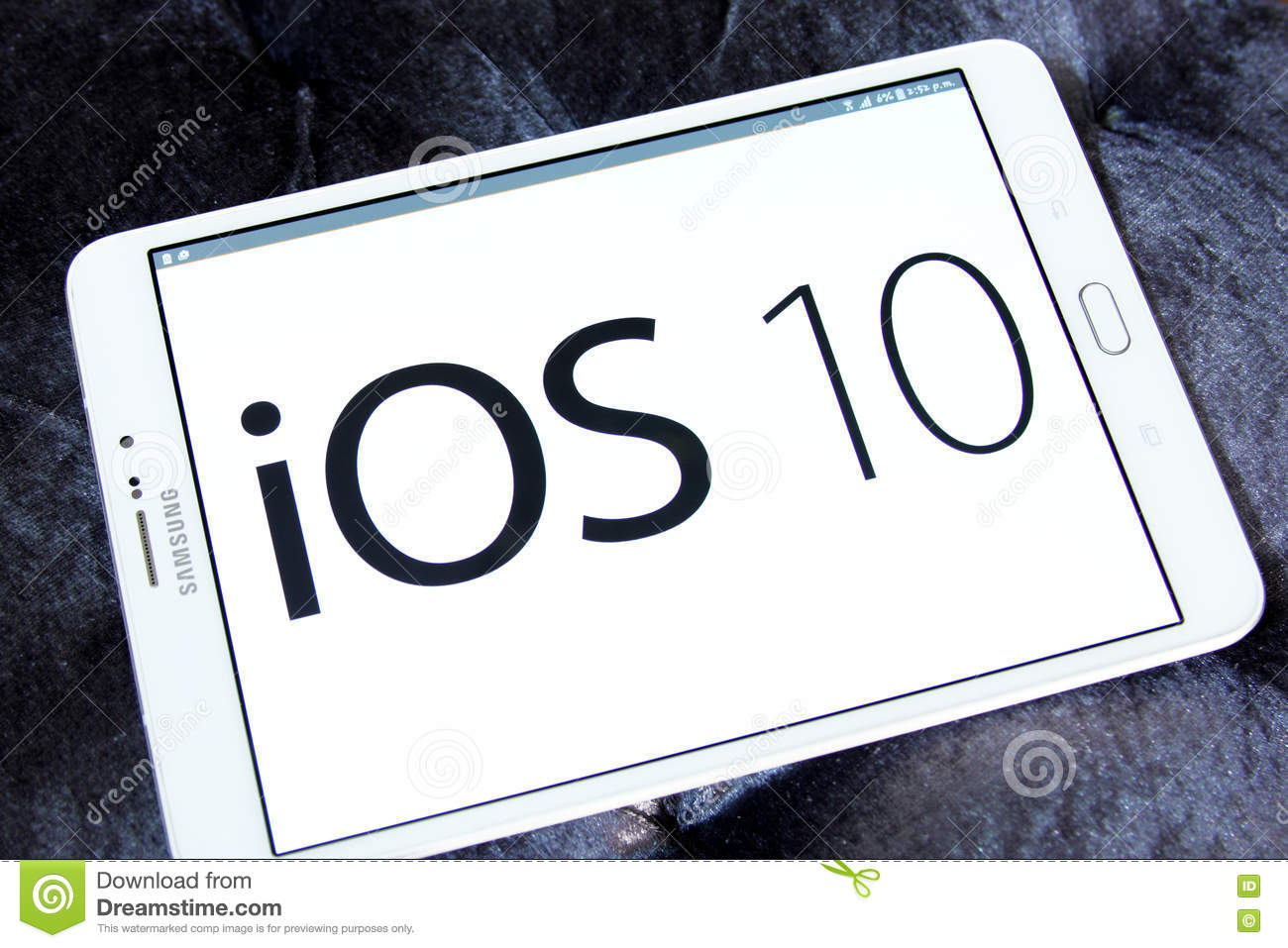 Ios 10 Logo On Apple Official Home Page Editorial