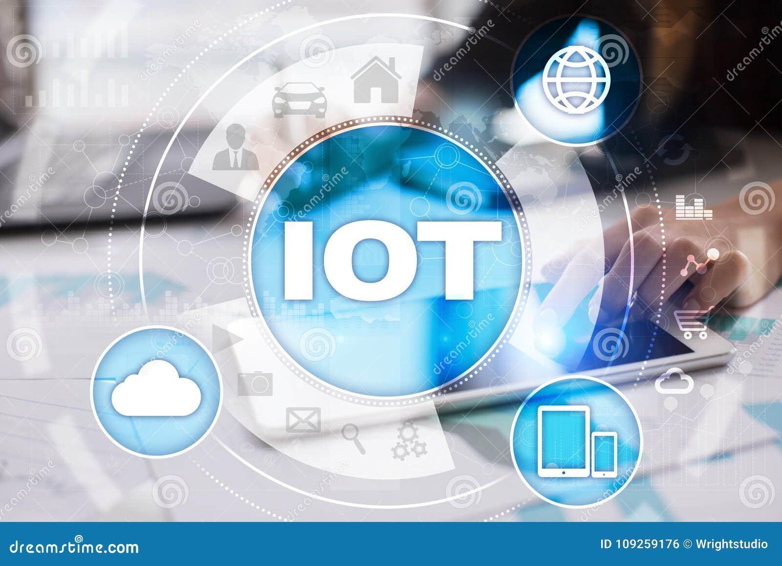 IOT Internet av tingbegreppet Multichannel online-kommunikationsnätverk 4 0 applikation för teknologiinternetradio