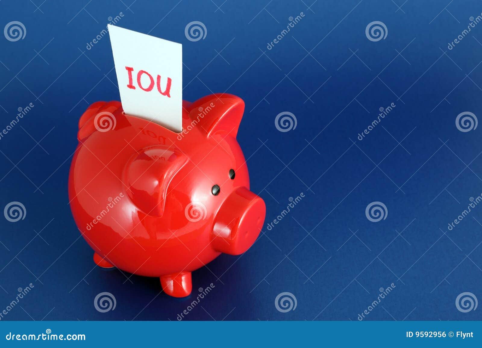 IOU Piggy Querneigung