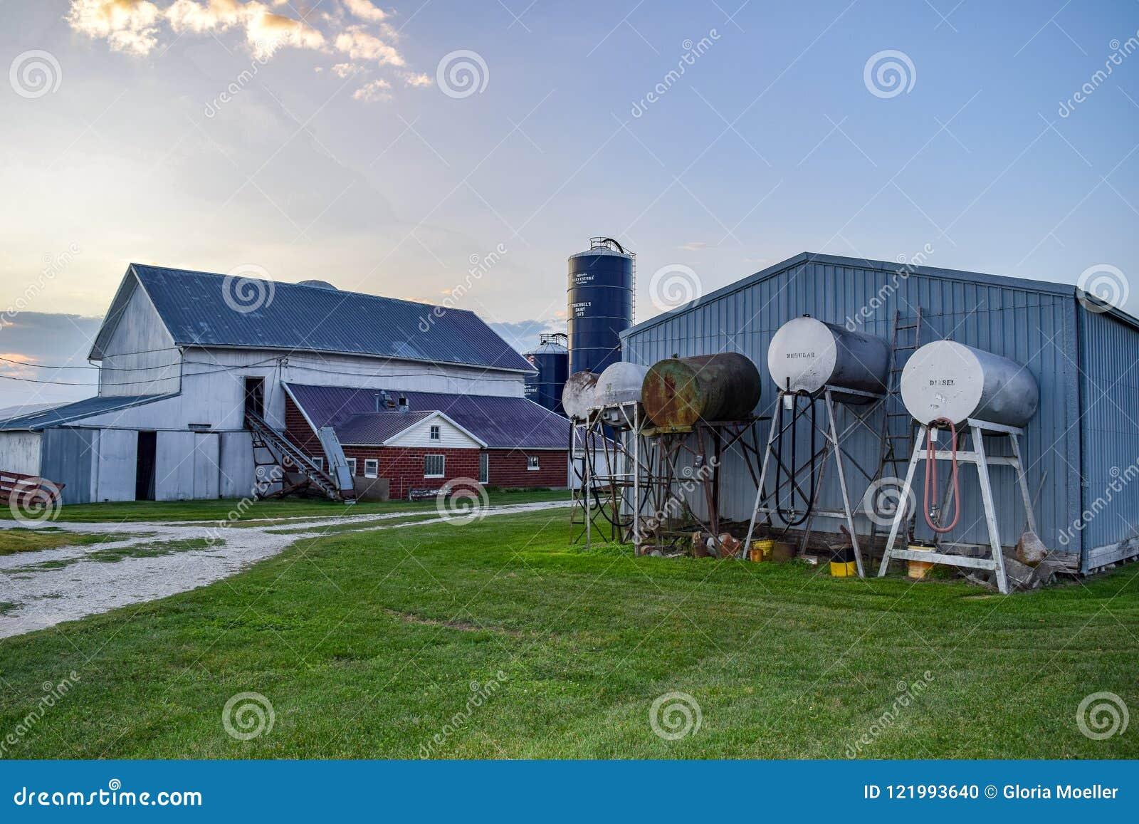 Iowa-Bauernhof-Außengebäude