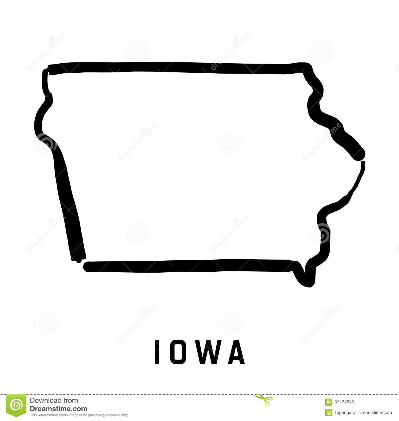 map of iowa vector illustration 90489946. Black Bedroom Furniture Sets. Home Design Ideas
