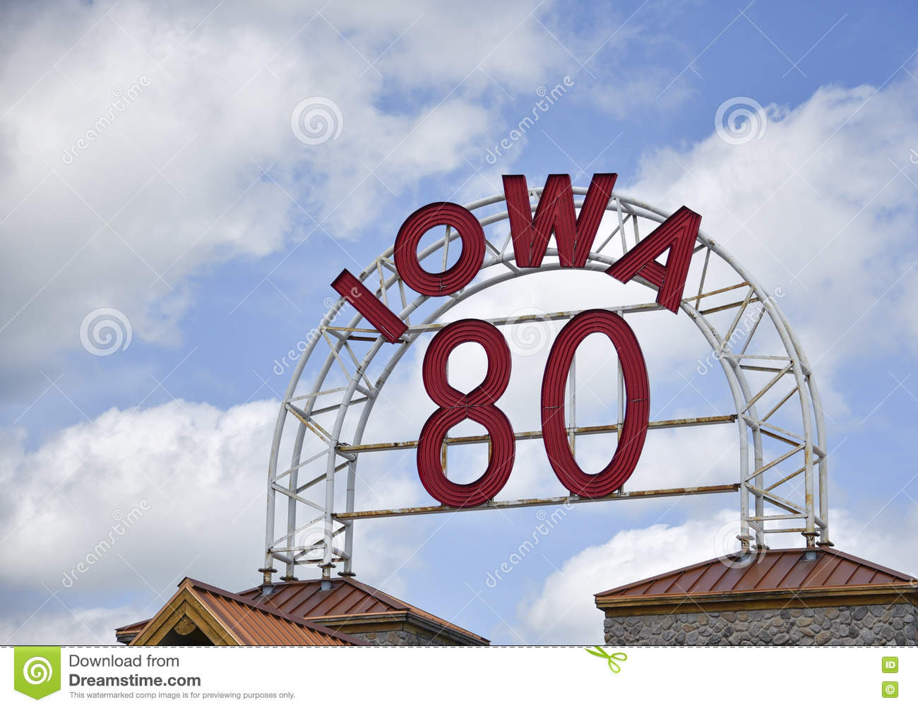 Iowa 80 Sign editorial stock photo  Image of station - 75877688