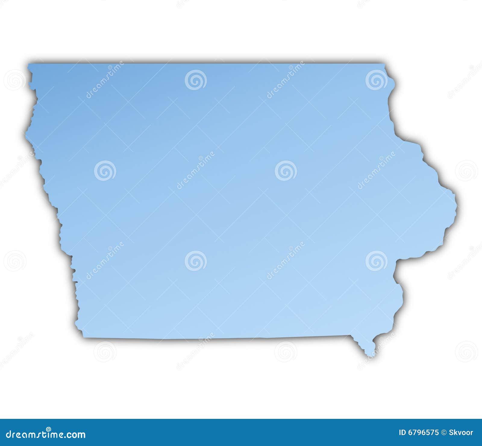 Iowa On Usa Map.Iowa Usa Map Stock Illustration Illustration Of Illustration 6796575
