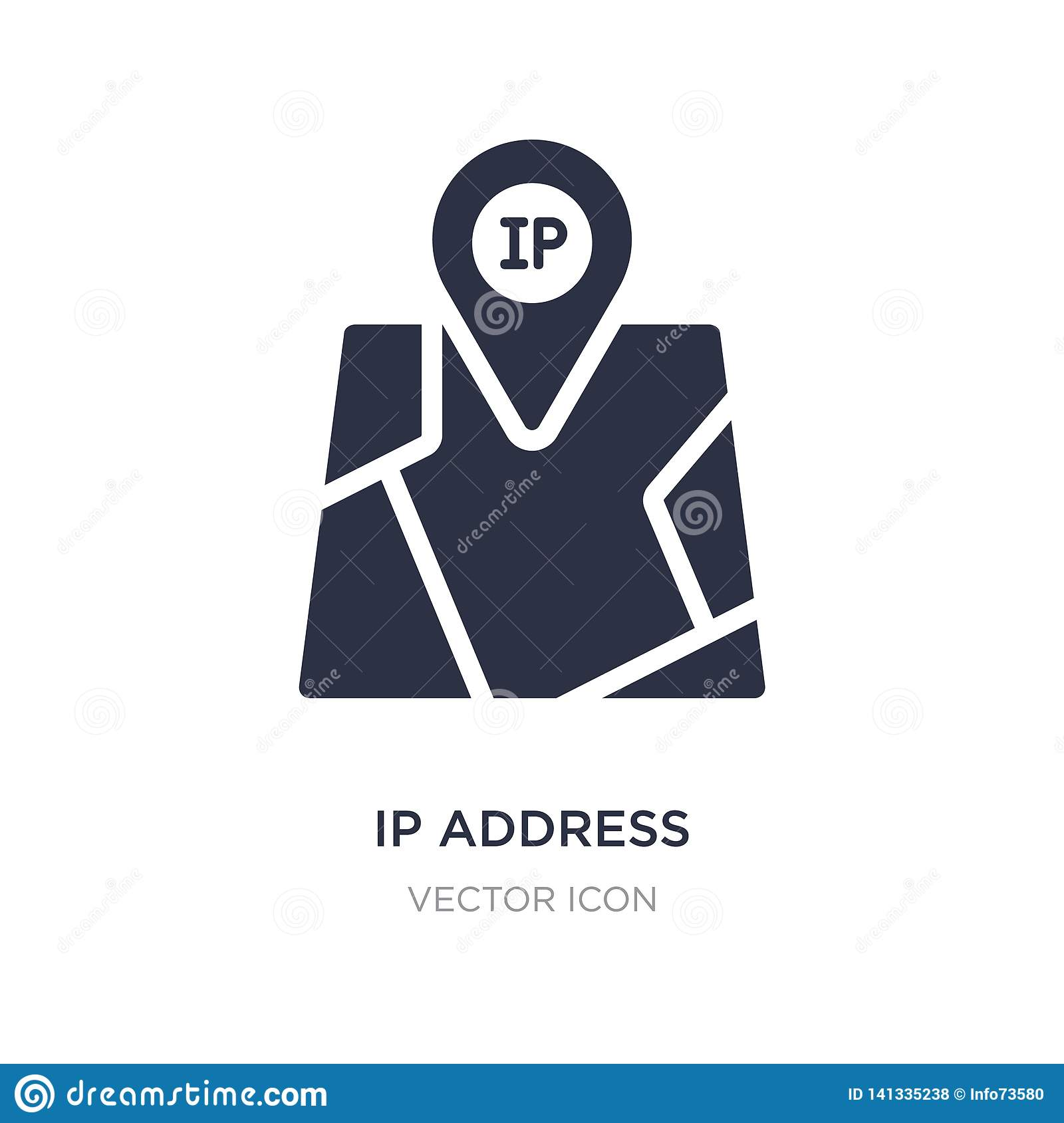 ip address point locator icon on white background. Simple element illustration from Technology concept