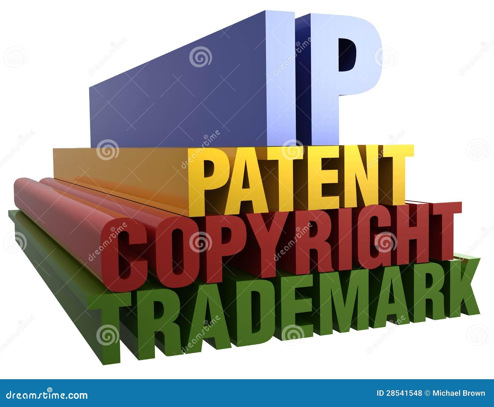 IP Copyright znaka firmowy Patentowi słowa
