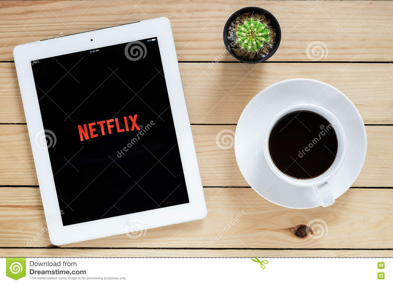 IPad 4 öppen Netflix applikation