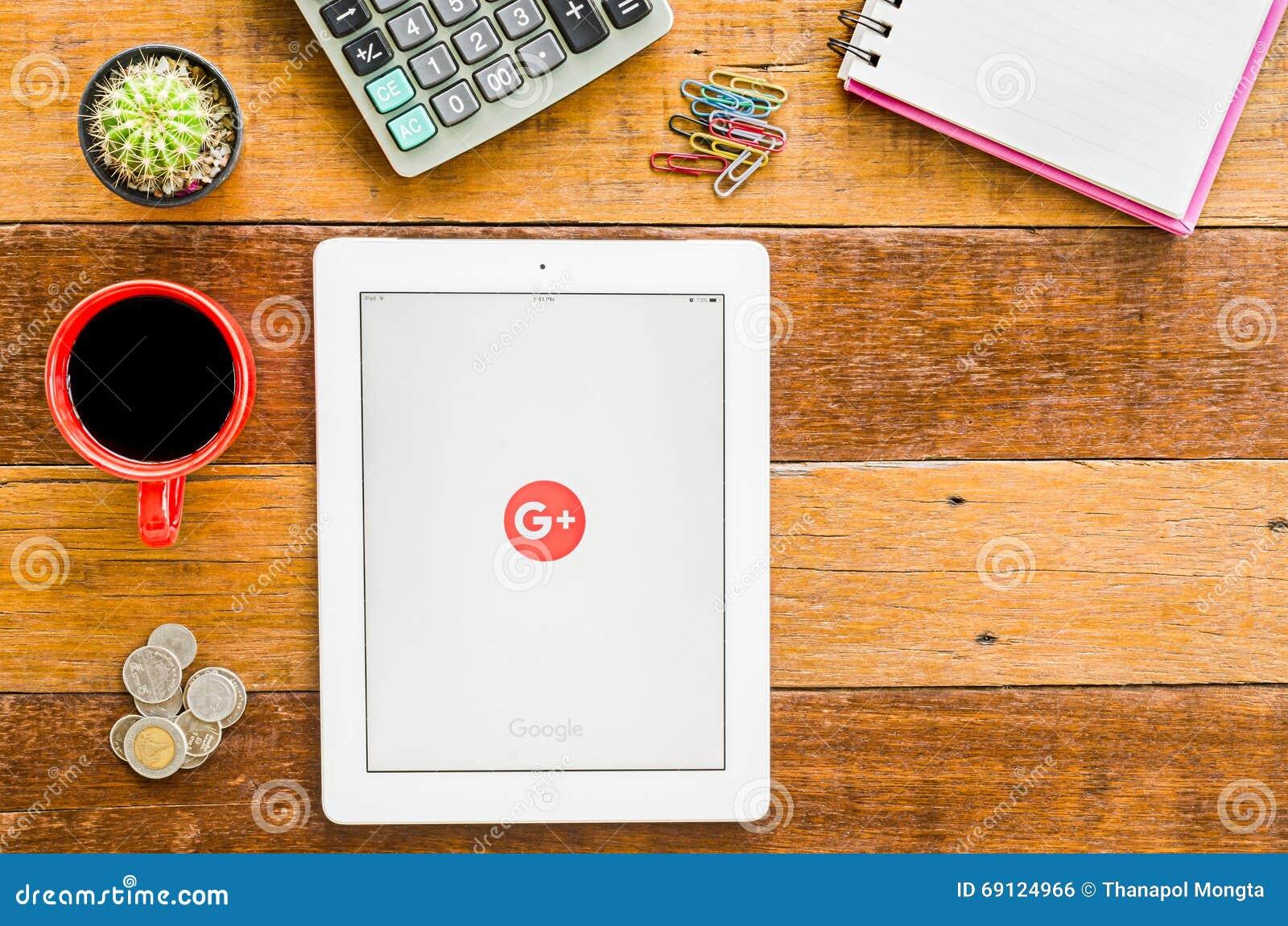 IPad 4 öppna Google plus applikation