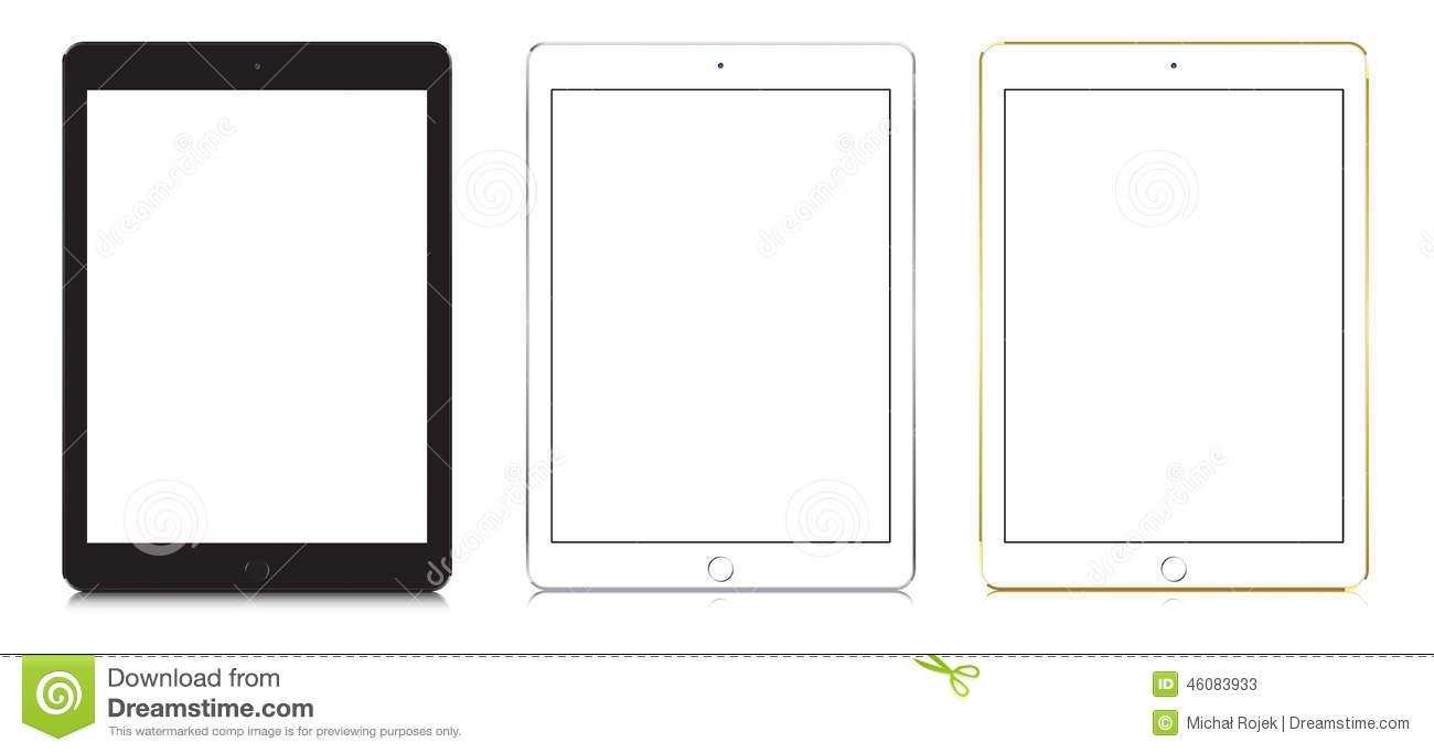 IPad Air 2 In Black, White And Gold Color. Editorial Stock ...