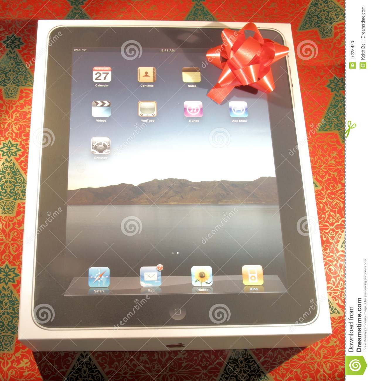 IPad In Box With A Holiday Gift Bow Editorial Stock Photo ...