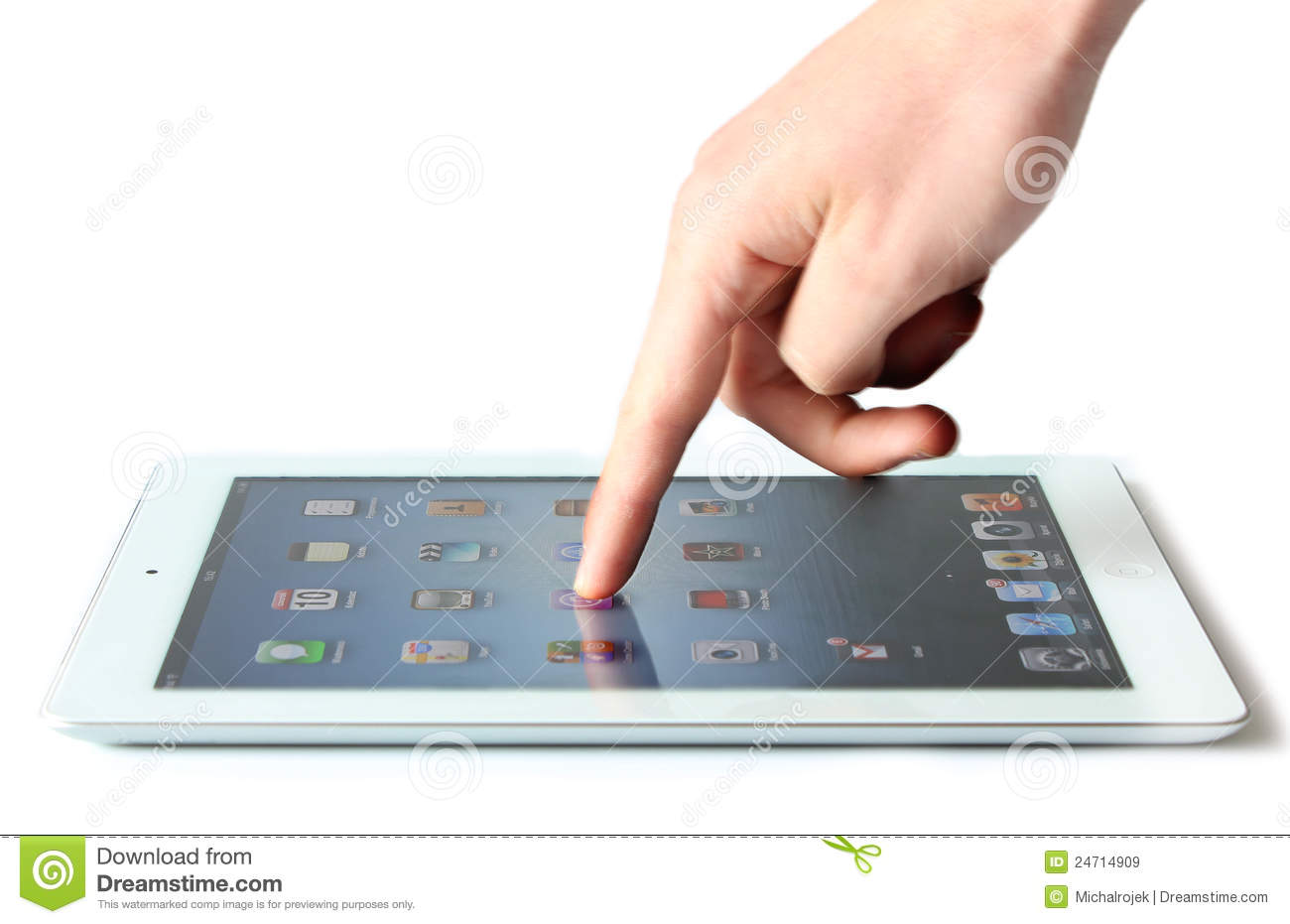 Ipad Finger Touch Editorial Stock Image
