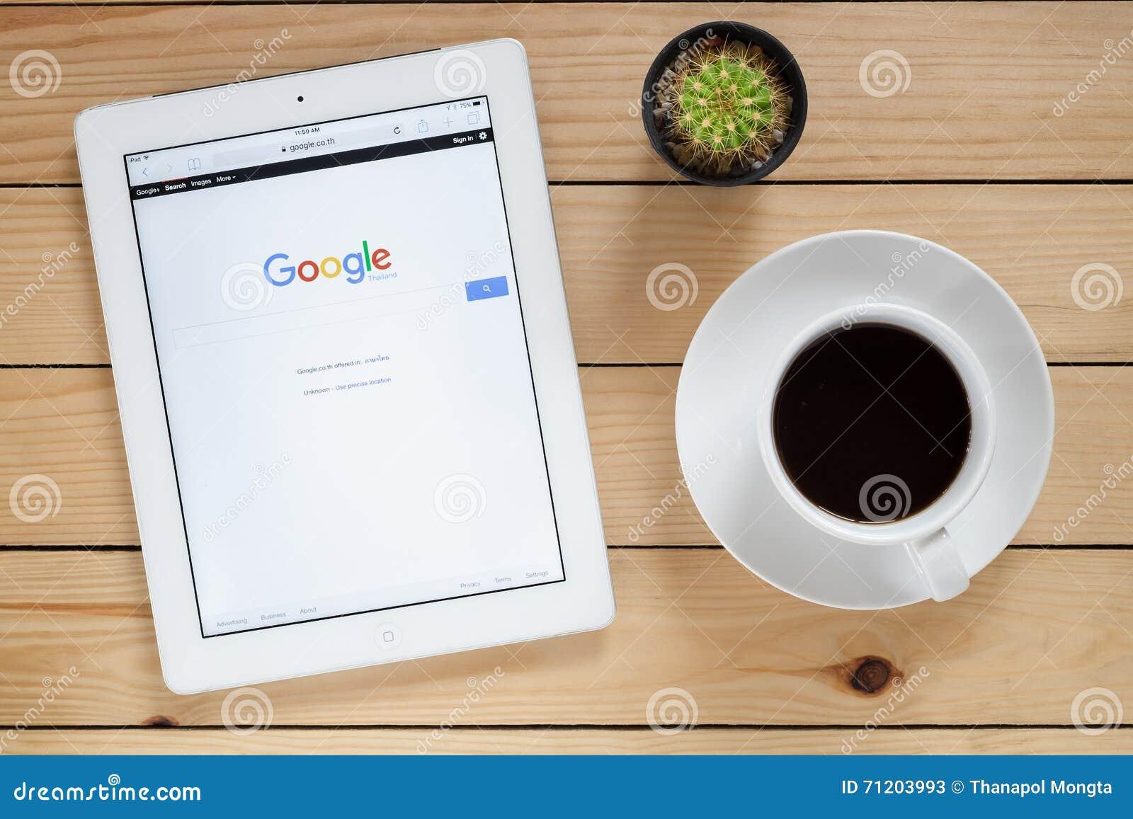 IPad 4 open google website