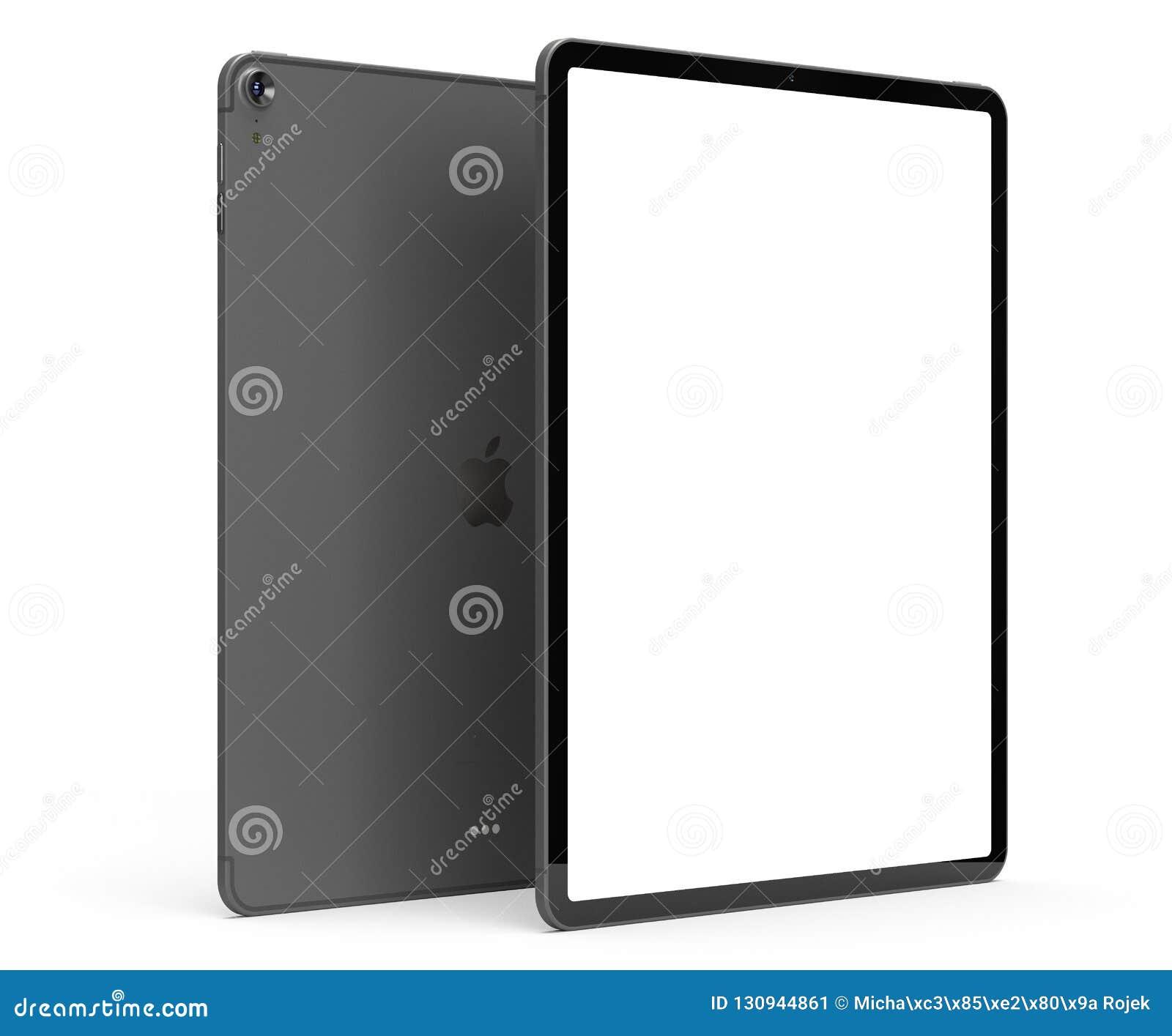 IPad Pro 2018 with blank screen