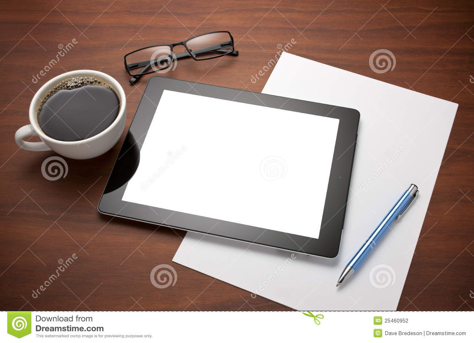Business Tablet Workplace Desk