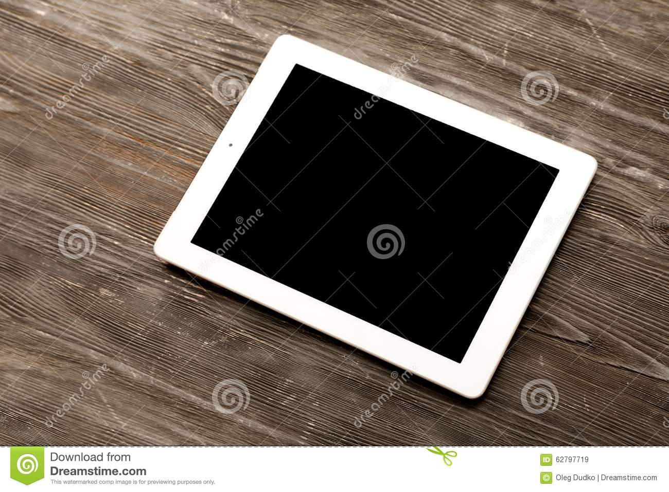 Ipad White Business Table Pad Top View Media