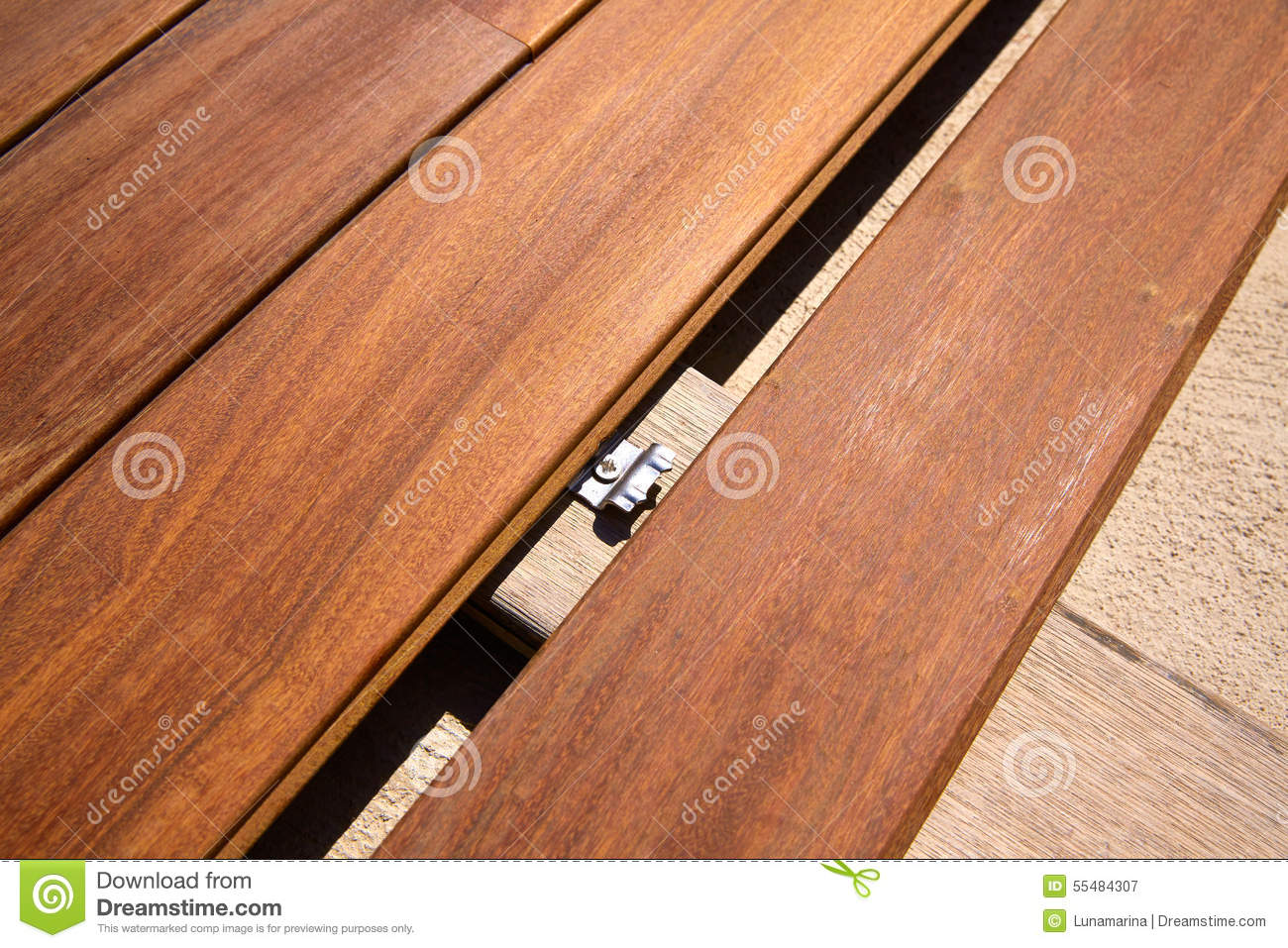 Ipe Decking Deck Wood Installation Clips Fasteners Stock