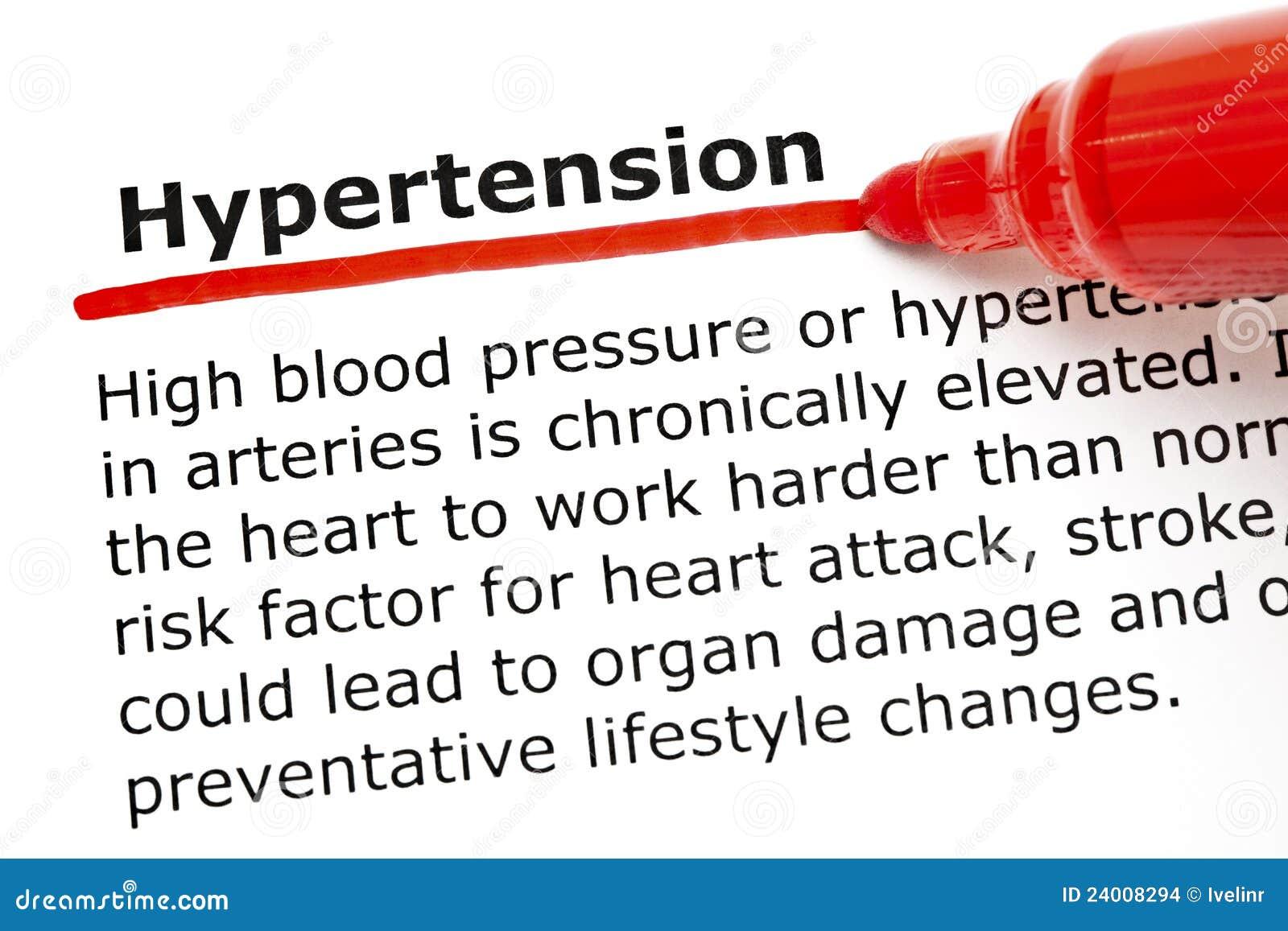 Ipertensione Sottolineata Con L'indicatore Rosso..