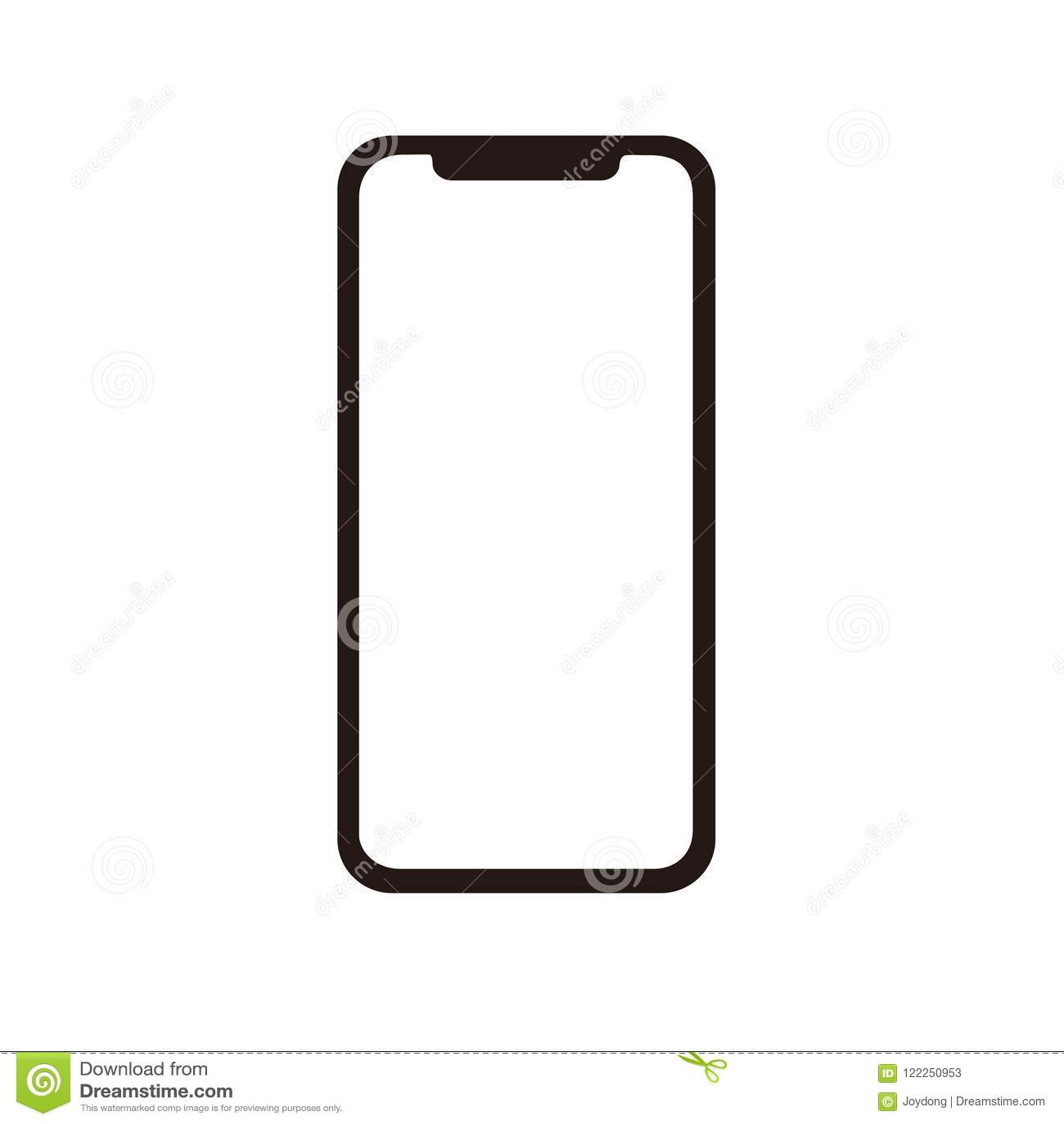 Iphone Χ εικονίδιο για το διάνυσμα