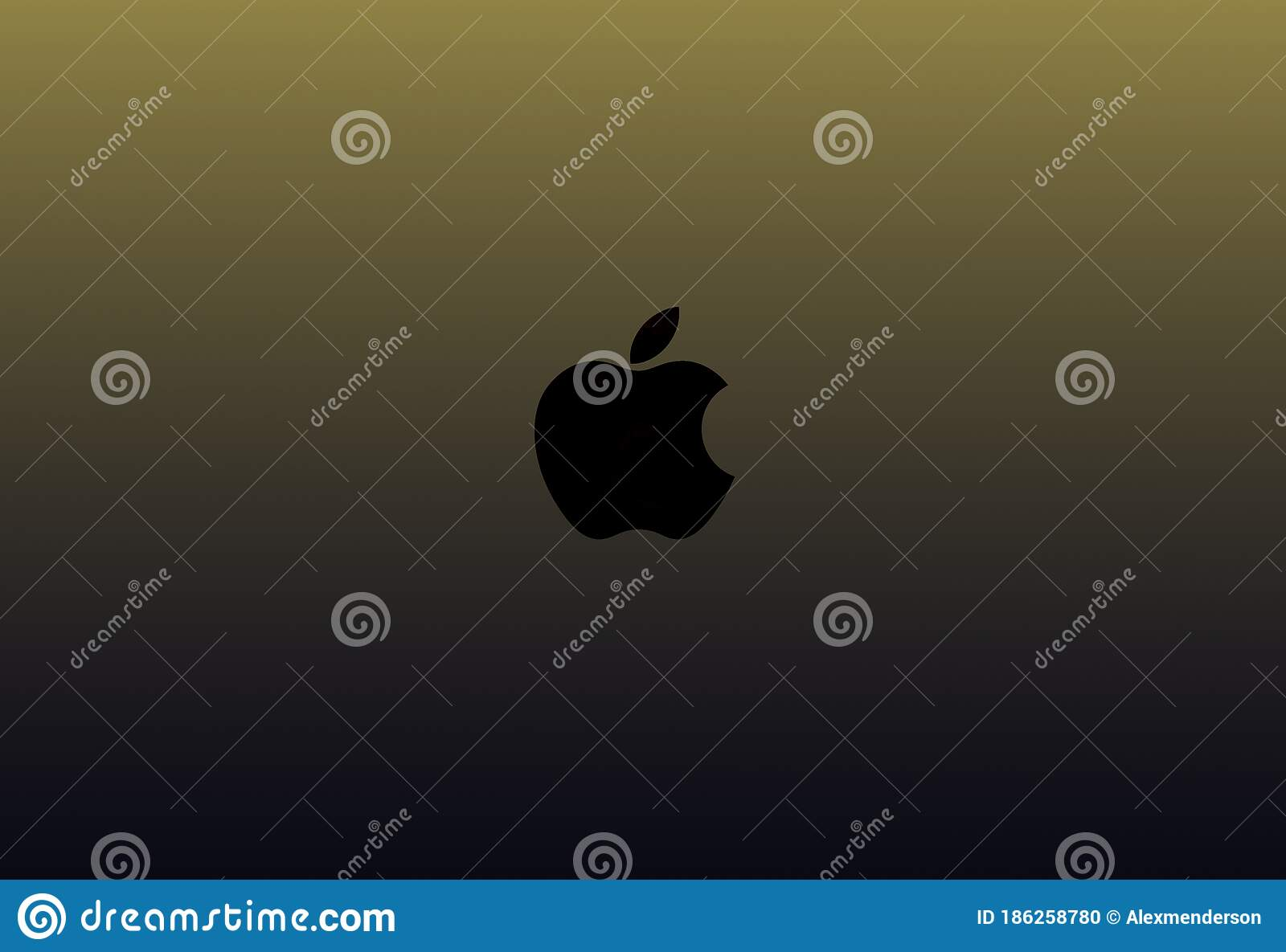 Black Apple Inc Logo On A Black Gold Background Editorial Image Image Of Background Beautiful 186258780