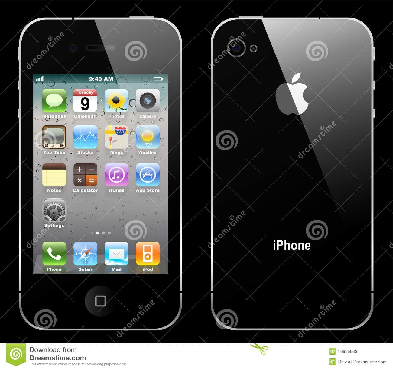 Iphone 4 do vetor