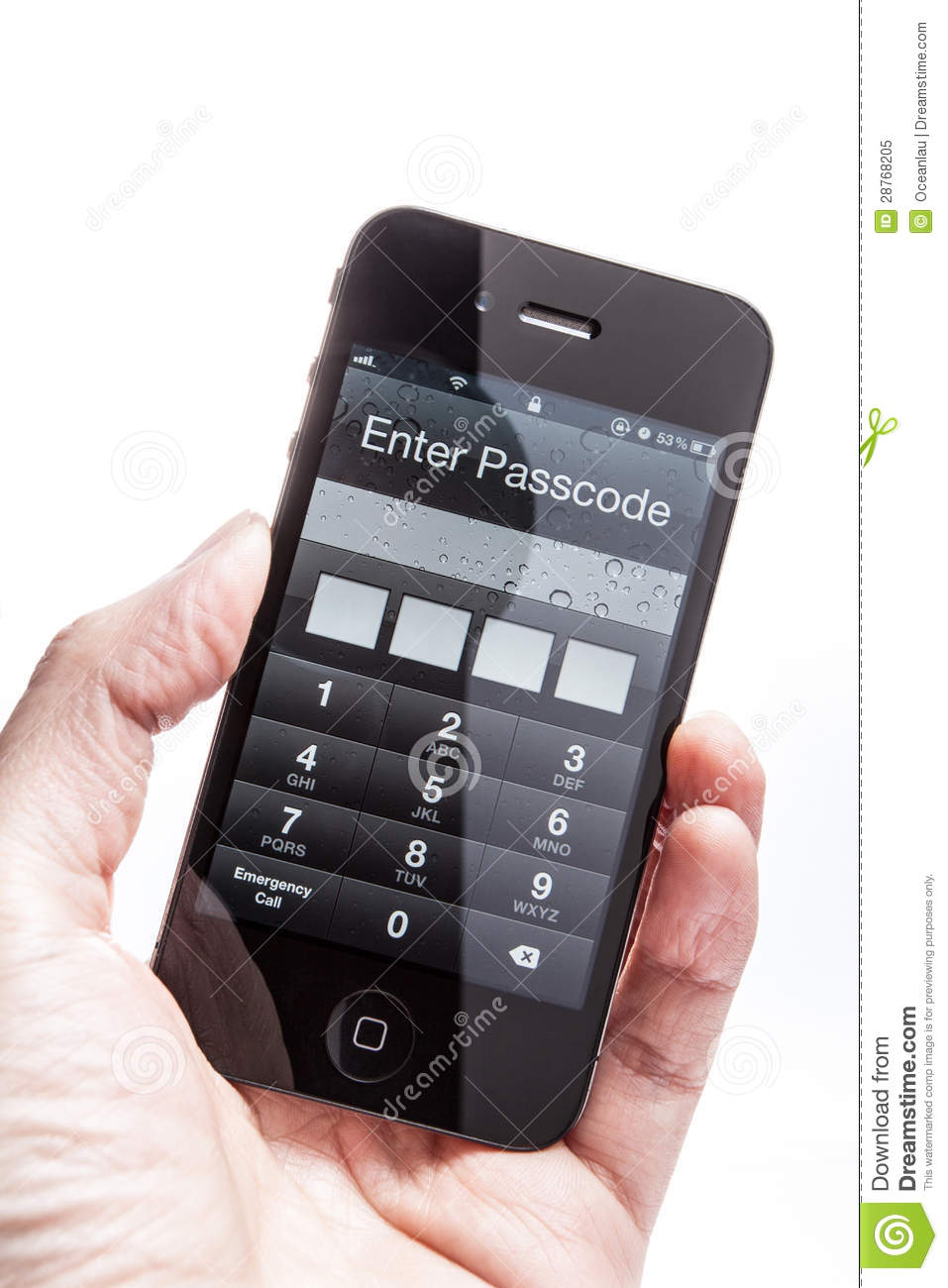 how to unlock iphone 4s passcode iphone 4s enter the password to unlock editorial image 19221