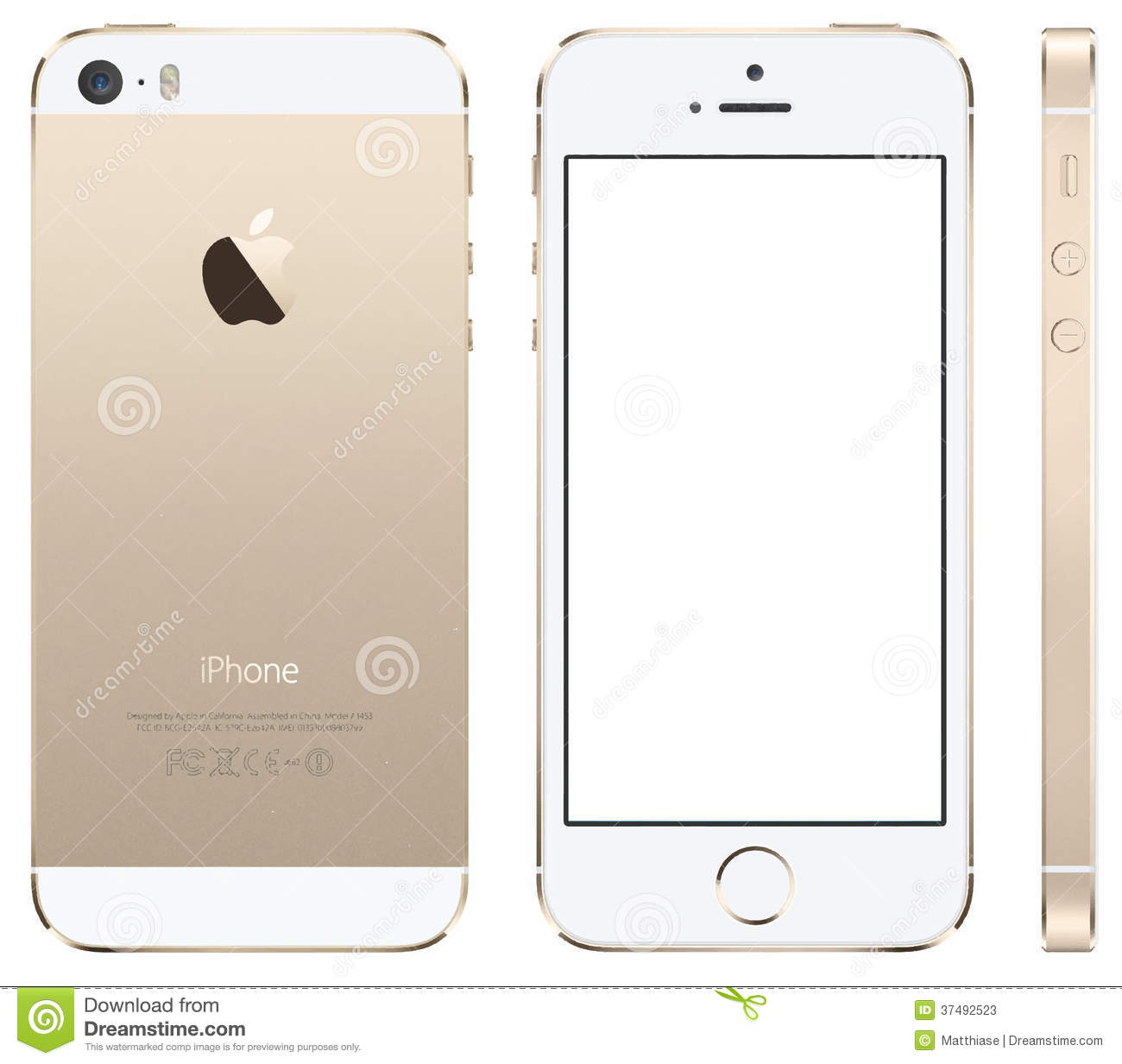 Iphone 5 Gold Vector Editorial Stock Photo - Image: 37492523