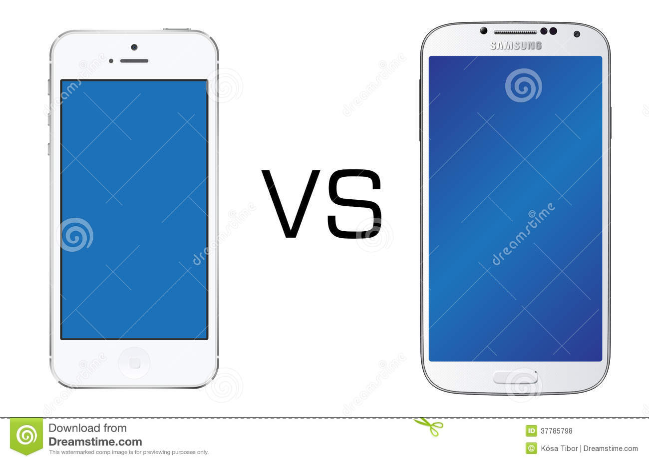 Iphone 5 White Vs Samsung Galaxy S4 White Editorial Stock Photo ...