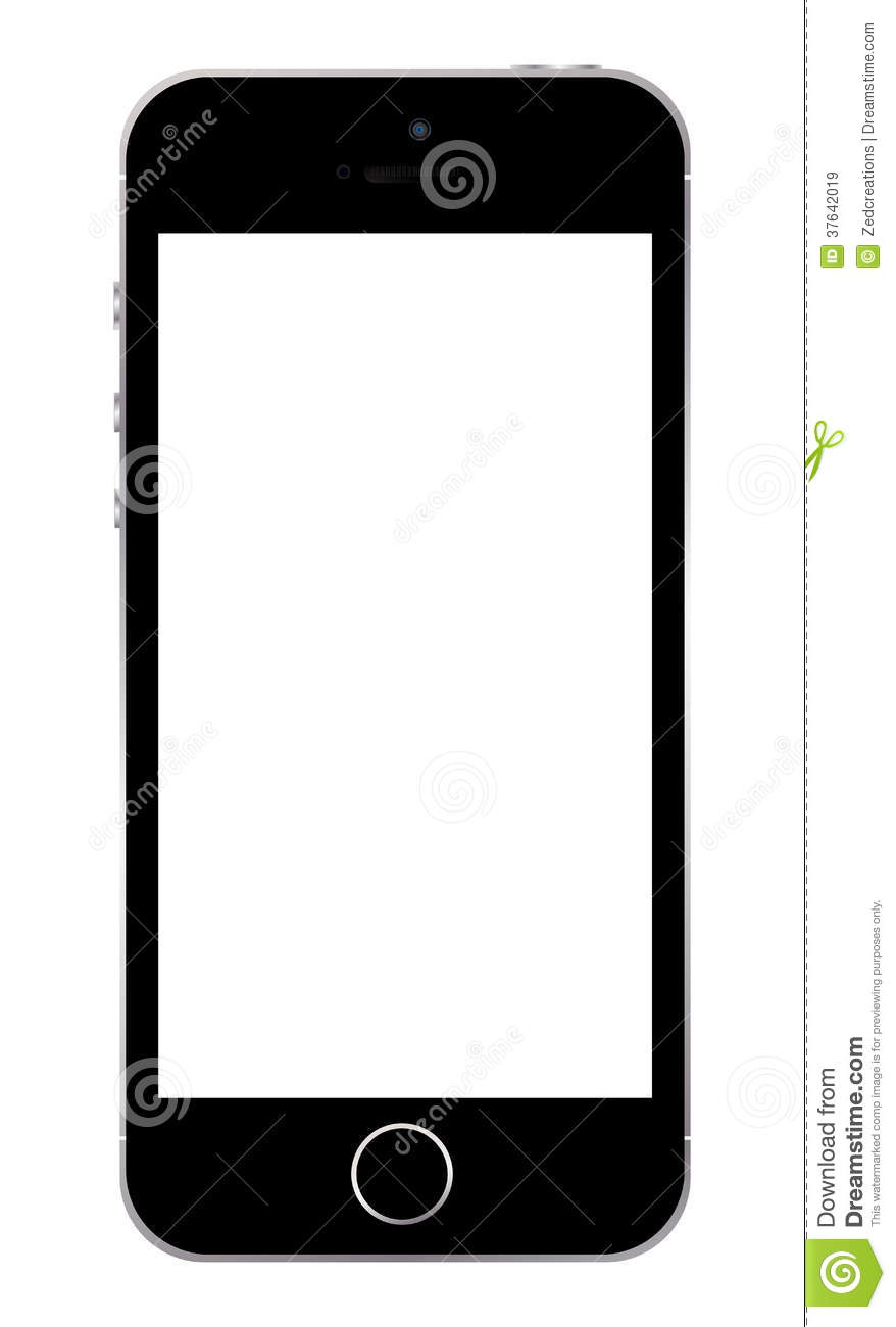 Iphone 5s Template Editorial Stock Image Illustration Of