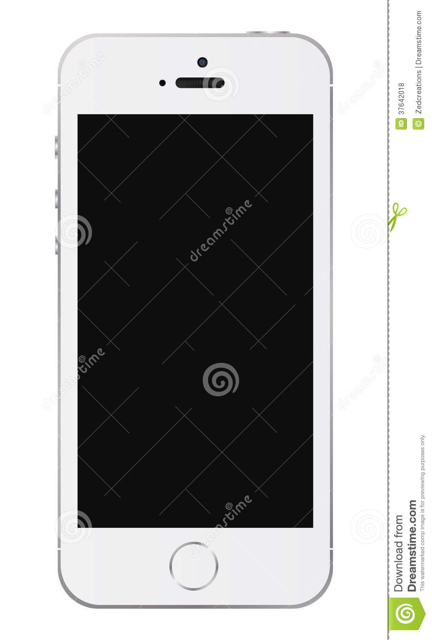 An Illustration Of The New White Iphone 5s Additional Vector Eps File Available You Can Use Elements Separately